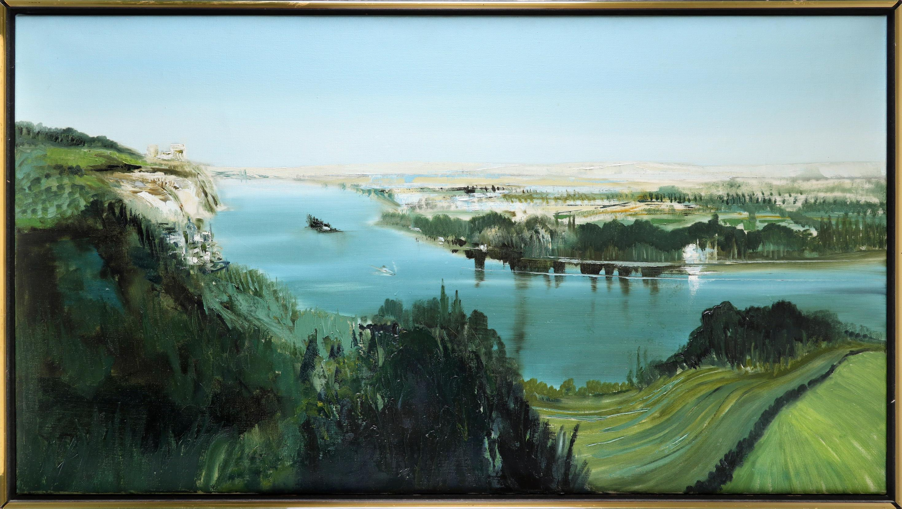 ‡Kit Barker (1916-1988) The Seine, Les Andelys Signed, dated and inscribed Barker 72/THE SEINE, - Image 2 of 3