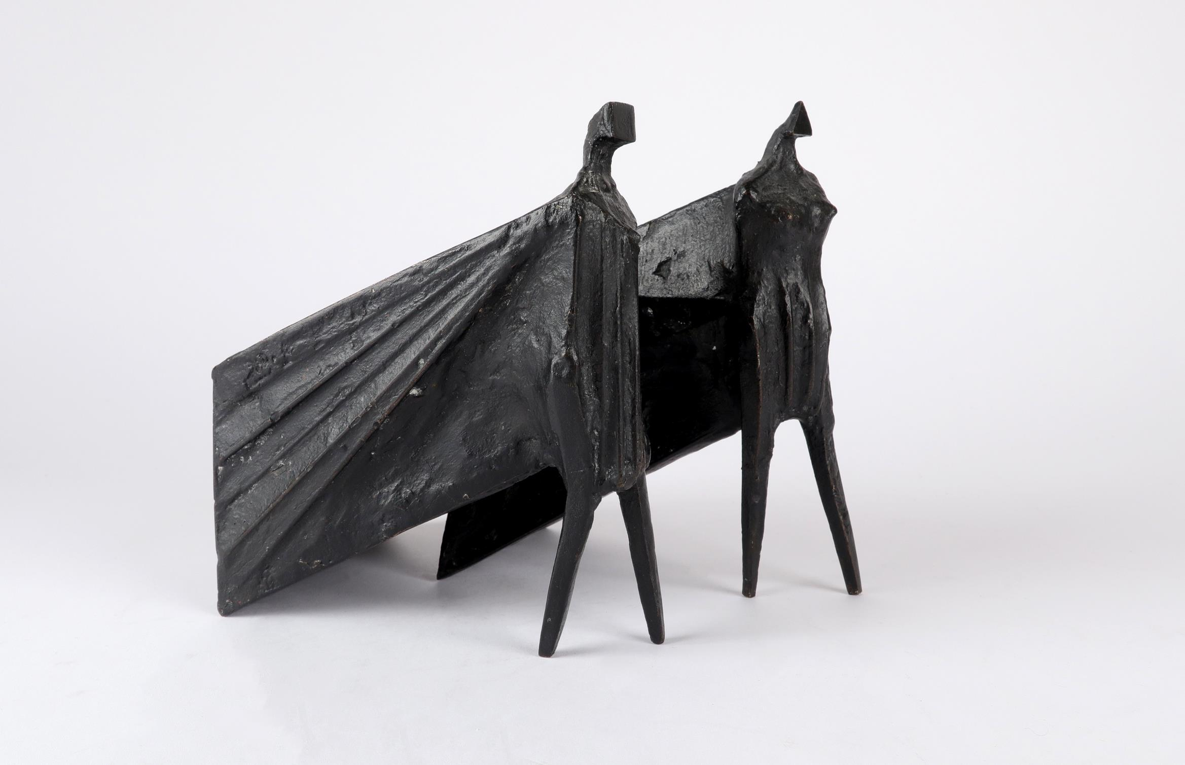 ‡Lynn Chadwick CBE, RA (1914-2003) Pair of Cloaked Figures III Each signed dated and numbered C/77/ - Image 20 of 22