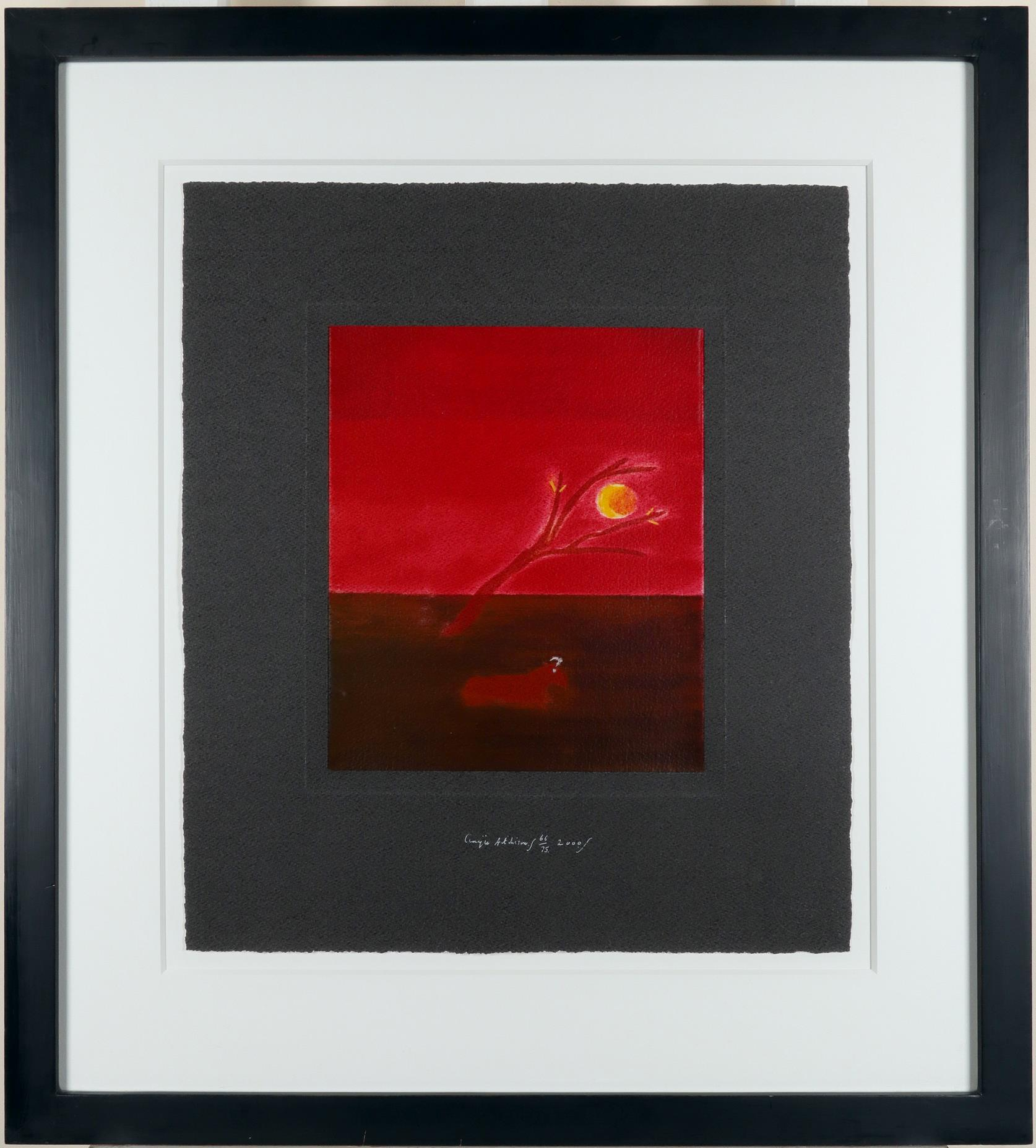 ‡Craigie Aitchison CBE, RSA, RA (Scottish 1926-2009) Ram in the moonlight Signed, numbered and dated - Image 2 of 3