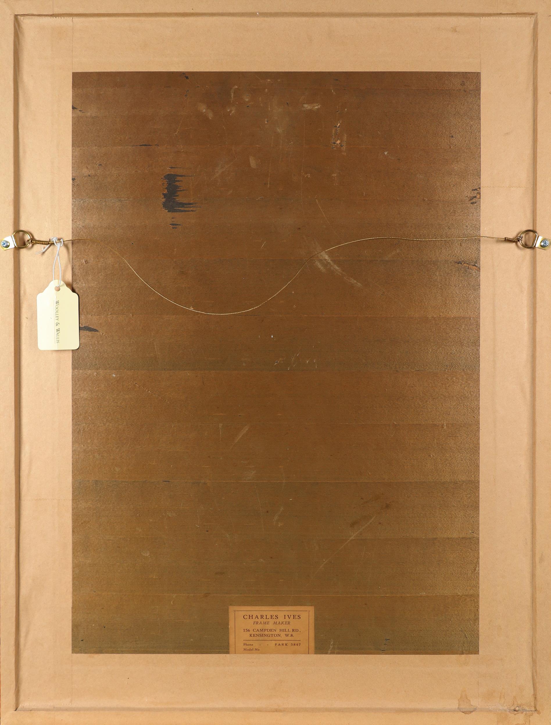 ‡Herbert James Gunn (1893-1964) Portrait of a woman Signed James Gunn (lower right) Red chalk - Image 3 of 3