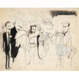 ‡Sir Ronald Searle CBE, RDI (1920-2011) The columnist with stars of stage and screen Signed Ronald