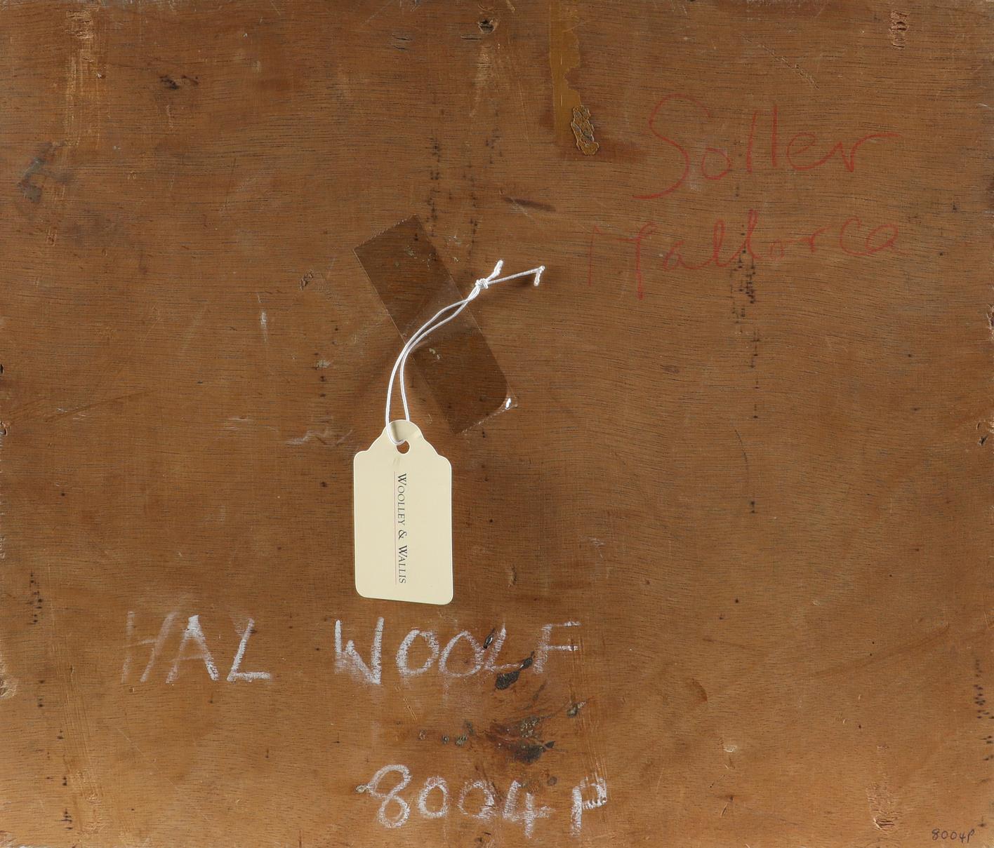 ‡Hal Woolf (1902-1962) Market Scene, Sóller, Mallorca Signed HAL WOOLF/36 (lower left) Oil on - Image 3 of 3
