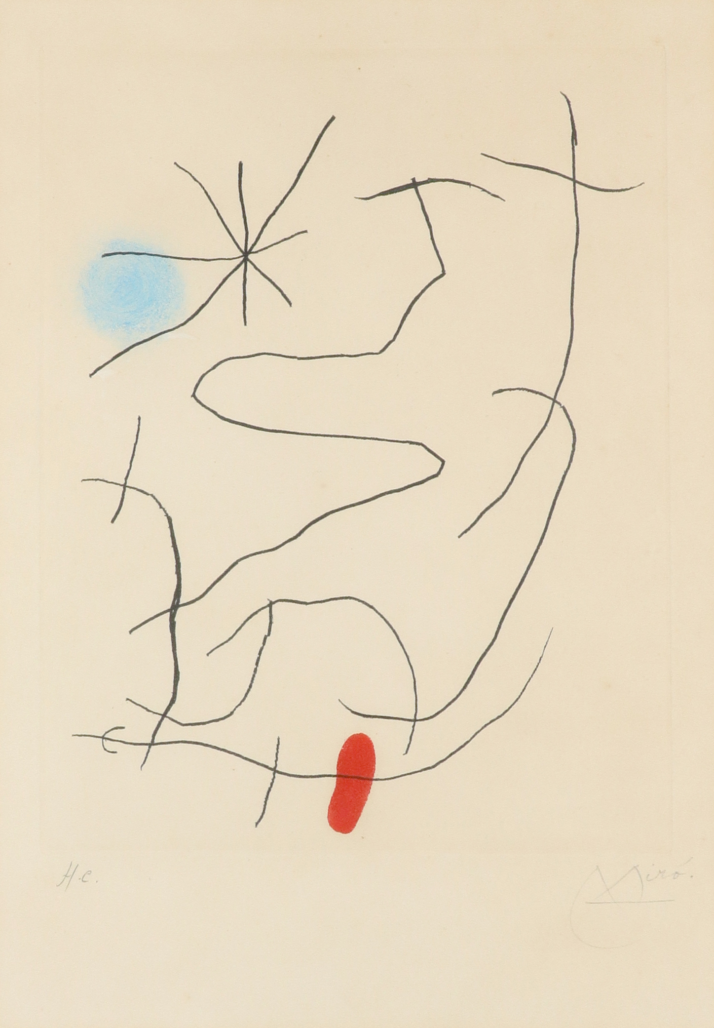 ‡Joan Miró (Spanish 1893-1983) Sonatine II (Dupin 419) Signed and inscribed H.C. Miró. in pencil