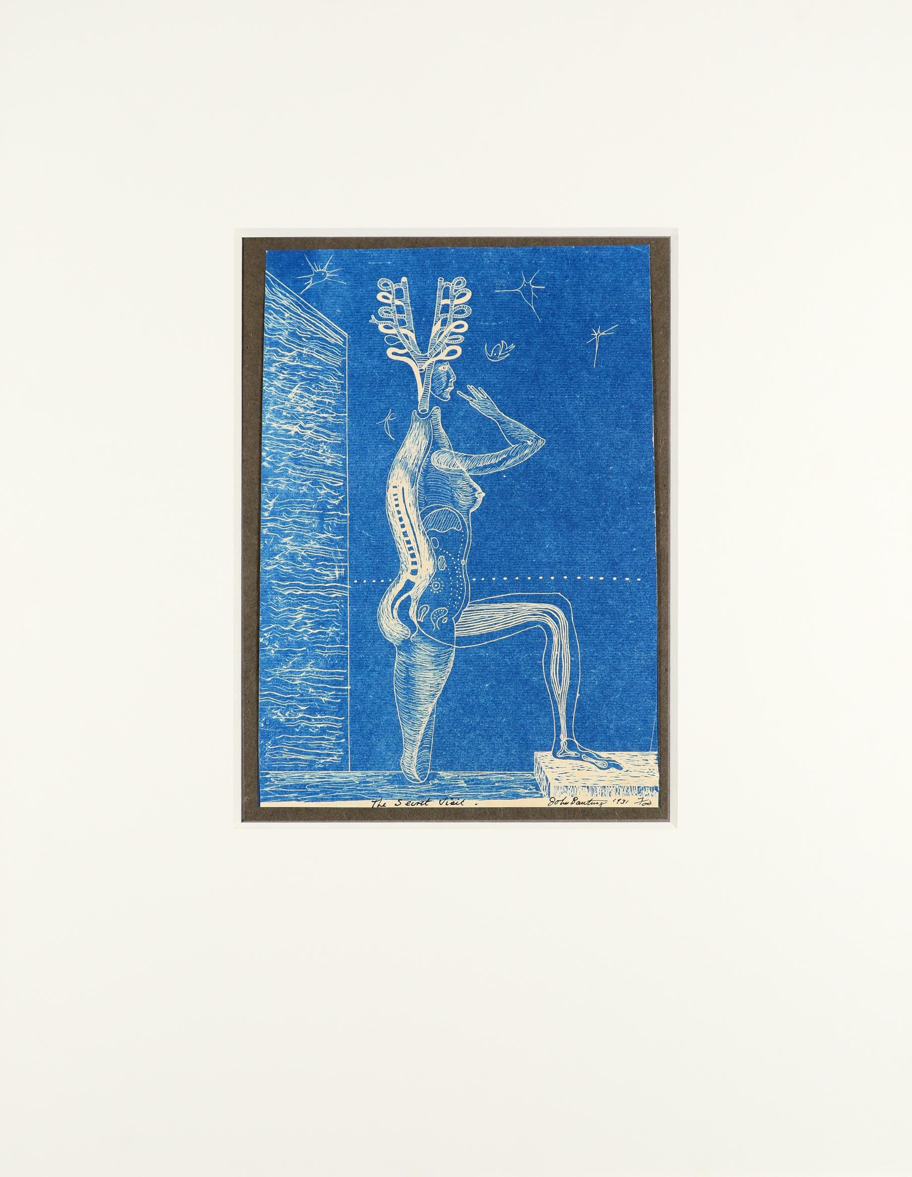 ‡John Banting (1902-1972) The Secret Visit Signed, dated, numbered and inscribed The Secret Visit - Image 3 of 4
