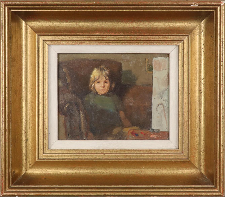 ‡Ken Moroney (b.1949) The artist's son Signed Moroney (lower left) Oil on board 12.8 x 16.6cm - Image 2 of 3