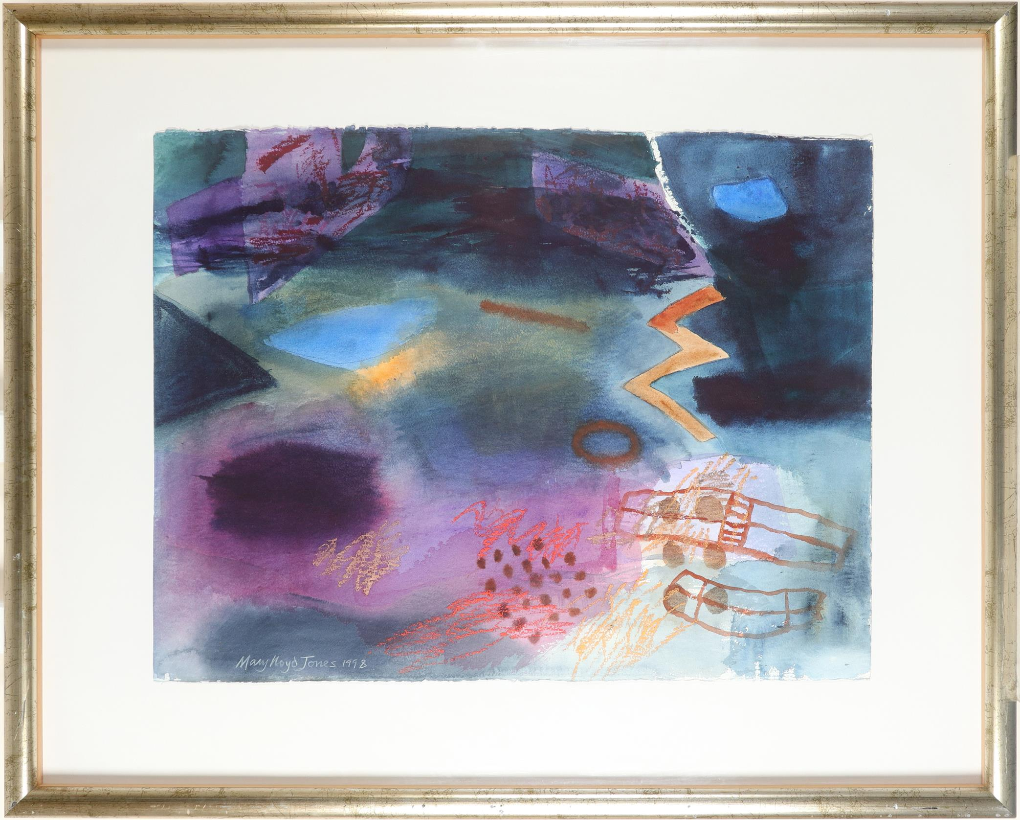 ‡Mary Lloyd Jones RCA, FLSW (Welsh b.1934) Between Two Worlds Signed and dated Mary Lloyd Jones 1998 - Image 2 of 3