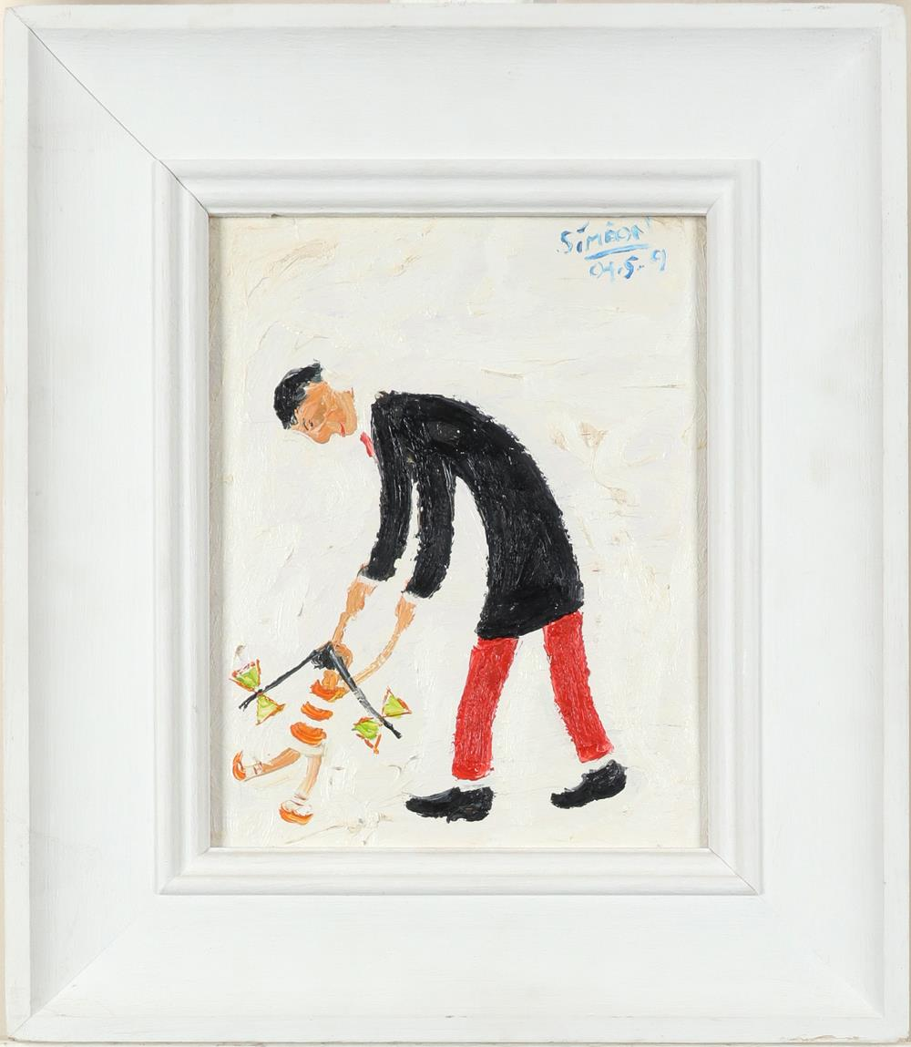 ‡Simeon Stafford (b.1956) Ruby and Dad Signed and dated Simeon/04.5.9 (upper right) and - Image 2 of 3
