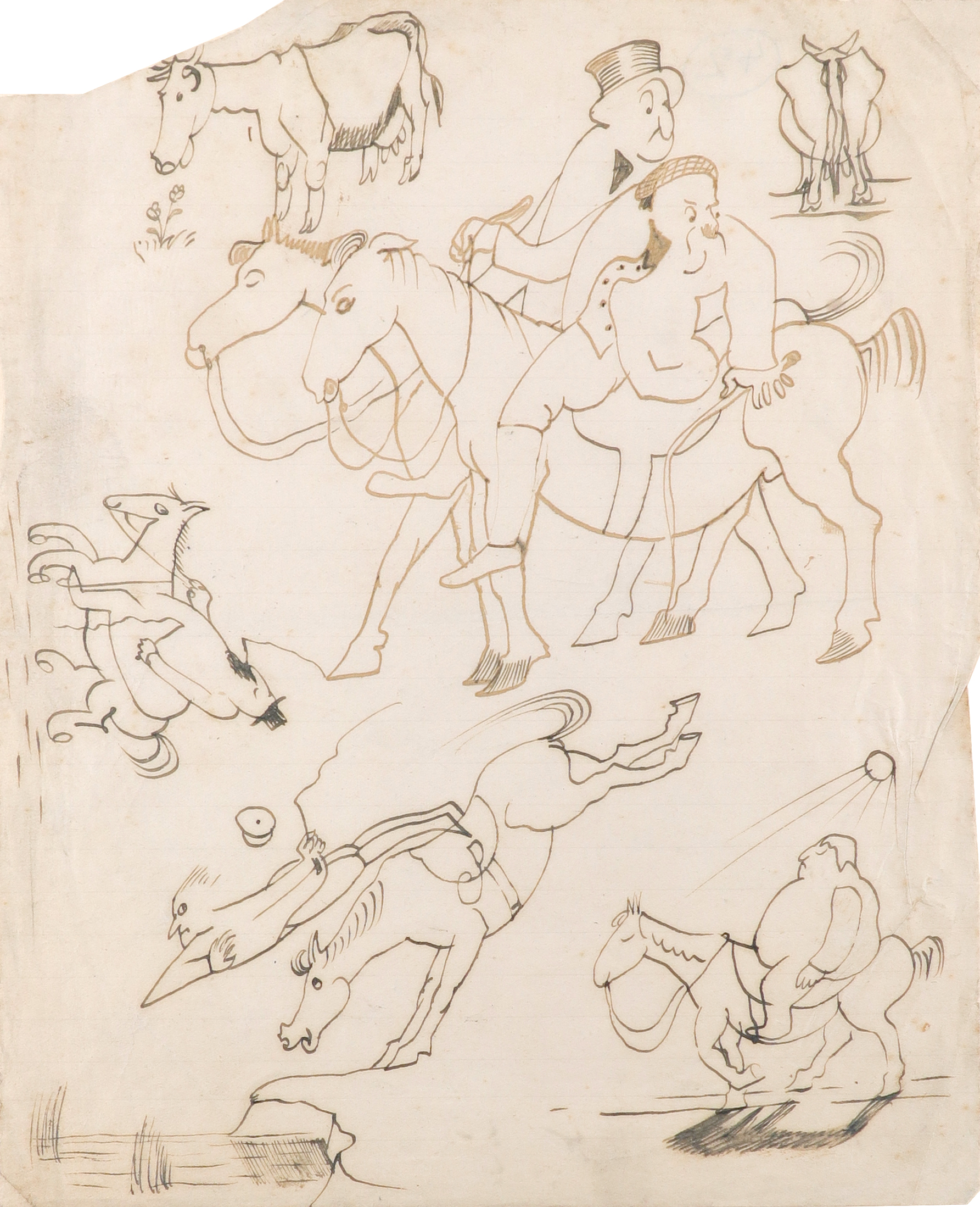 ‡John Nash CBE, RA (1893-1977) Horse play; How To Get Married Two, the latter signed John Nash (