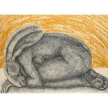 ‡Sophie Ryder (b.1963) Kneeling lady-hare Signed, dated and numbered 4/30 Ryder 2002 (in pencil)