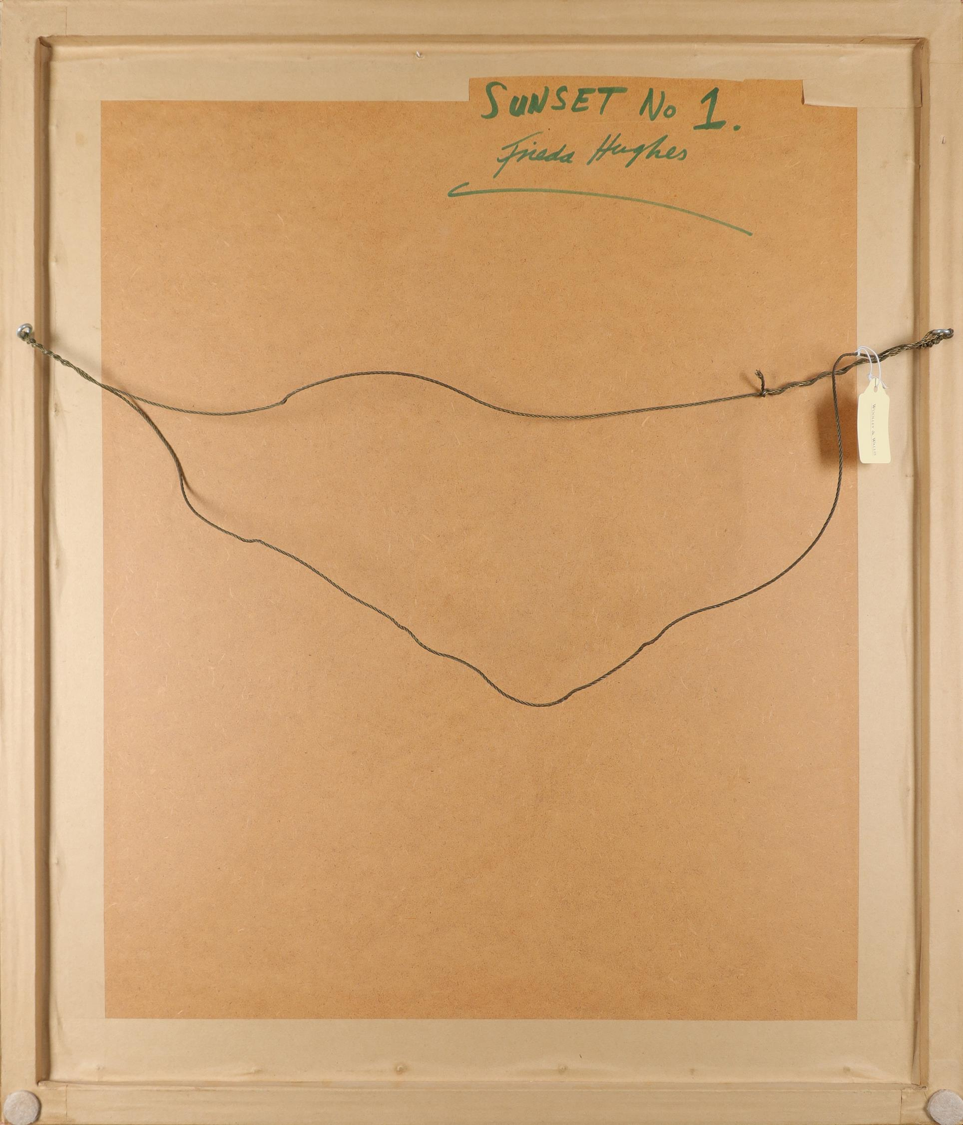 ‡Frieda Hughes (b.1960) Sunset No. 1 Signed Frieda Hughes (lower right), and signed and inscribed - Image 3 of 3