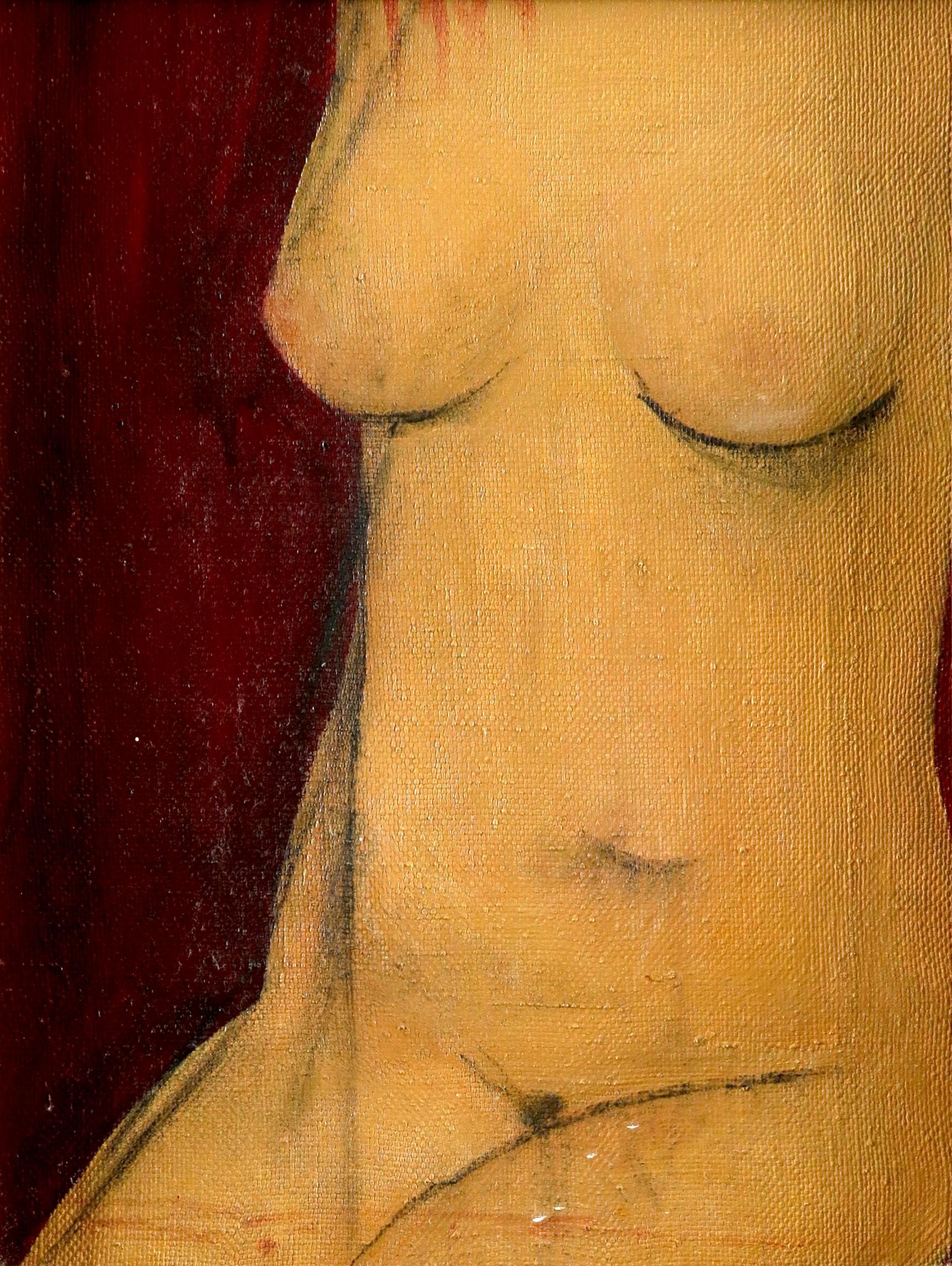 Valentin Khrushch (Ukrainian 1943-2005) Torso Oil on canvas 33.5 x 24.8cm Provenance: Hatchwell Fine
