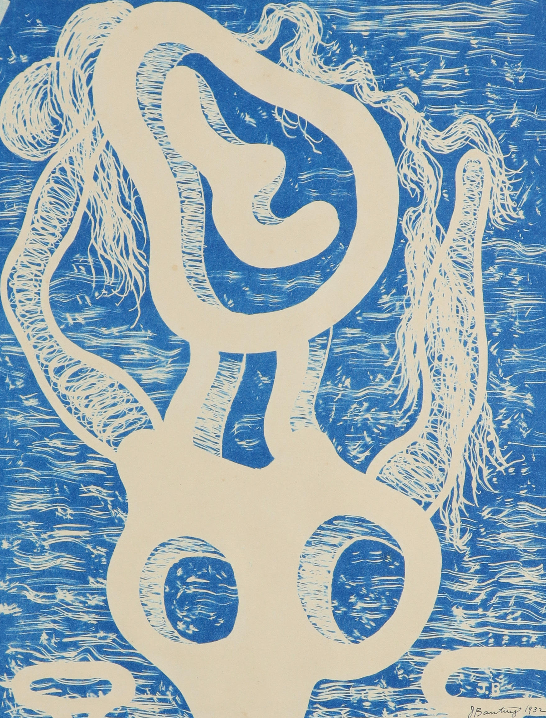 ‡John Banting (1902-1972) Untitled Signed and dated J Banting/1932 (in ink, lower centre) Cyanotype,