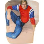 ‡Brian Stonehouse MBE (1918-1998) A red, white and blue sweat shirt Chalk, gouache, watercolour