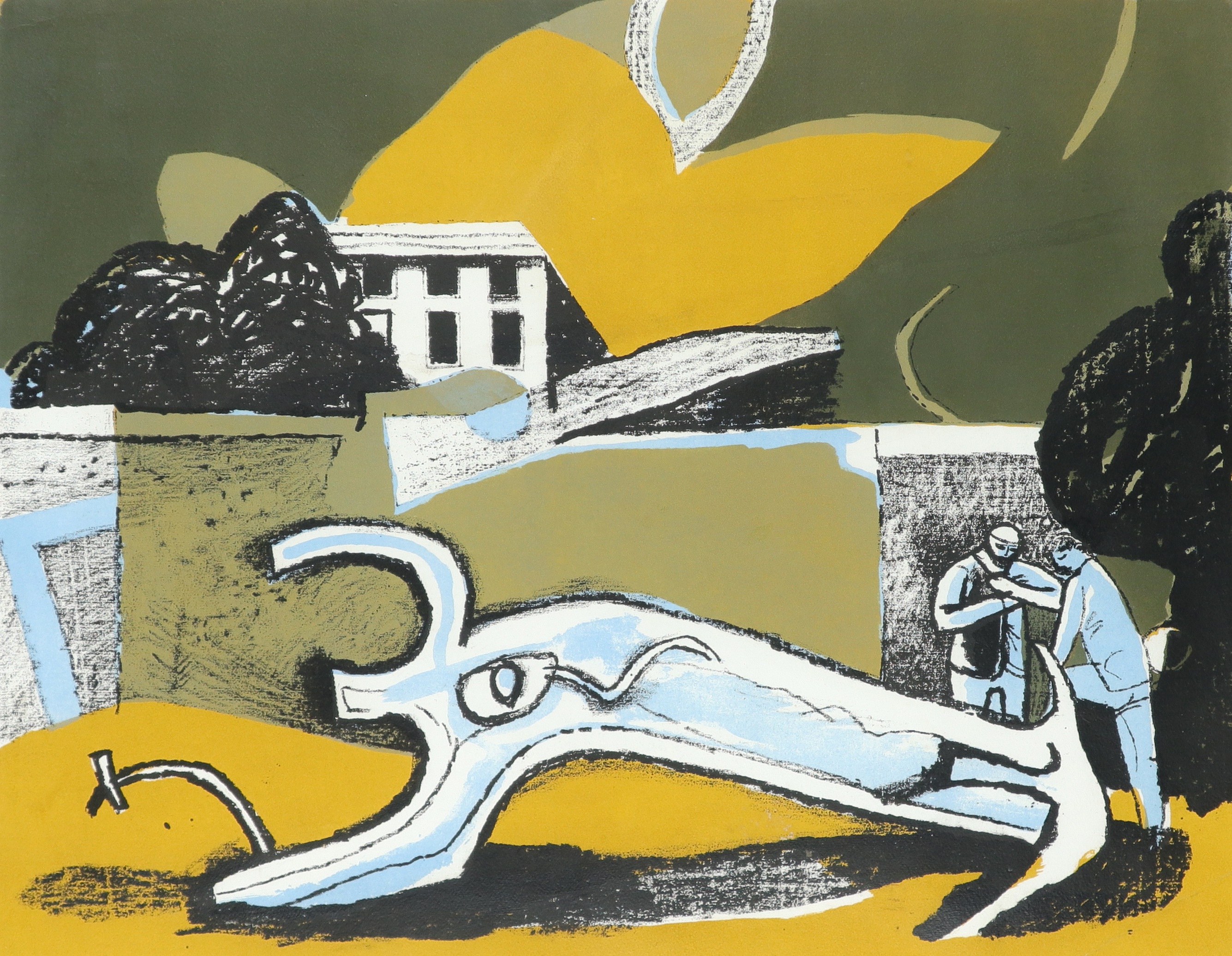 ‡Keith Vaughan (1912-1977) The Walled Garden Lithograph, 1951 38.7 x 49.5cm (image)