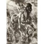 ‡Lin Jammet (1958-2017) Horse and rider Signed, dated and numbered 3/50 Lin Jammet '92 (in pencil to