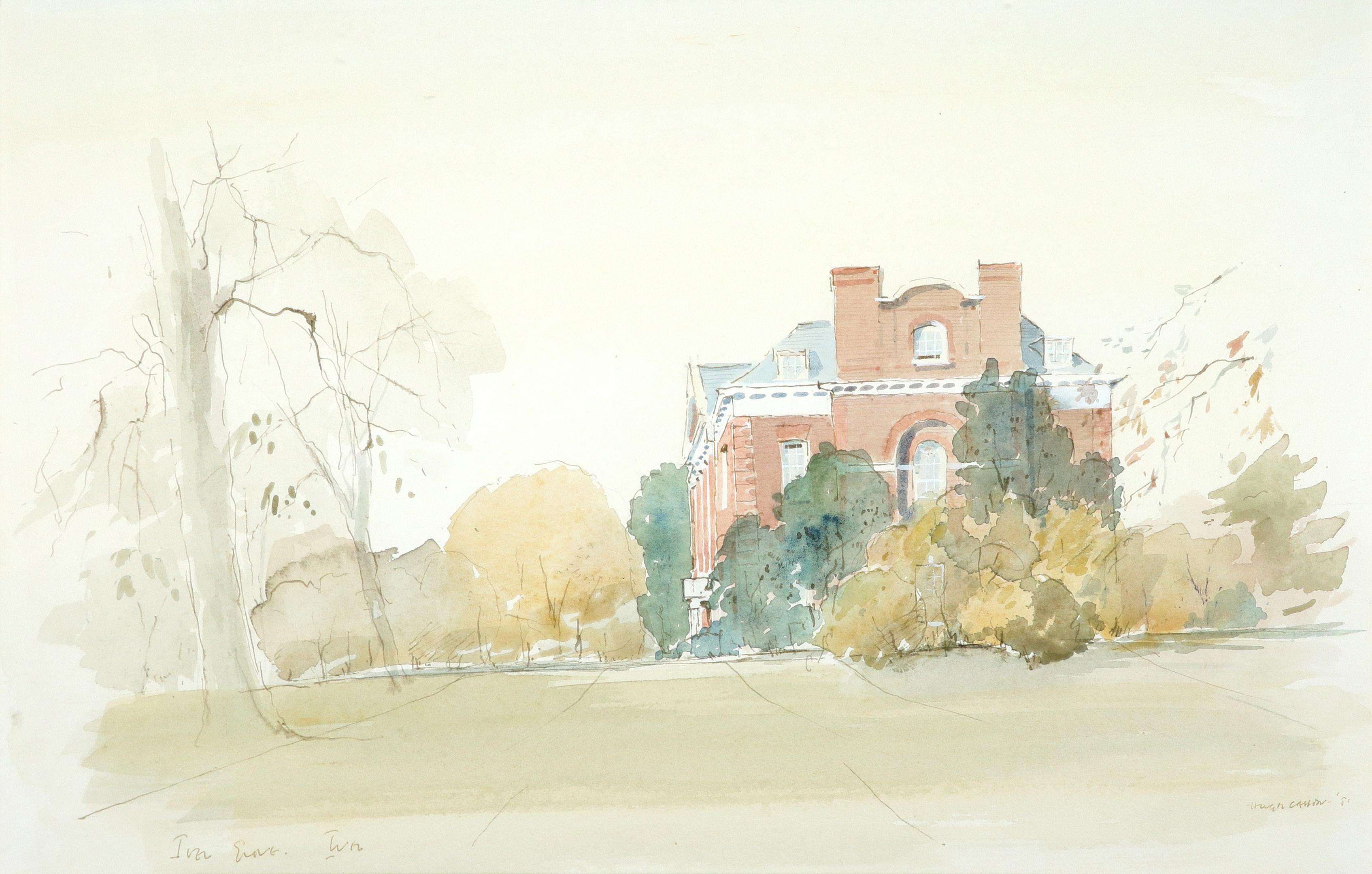 ‡Sir Hugh Casson CH, KKCVO, PRA, RDI (1910-1999) Iver Grove, Buckinghamshire Signed and dated HUGH