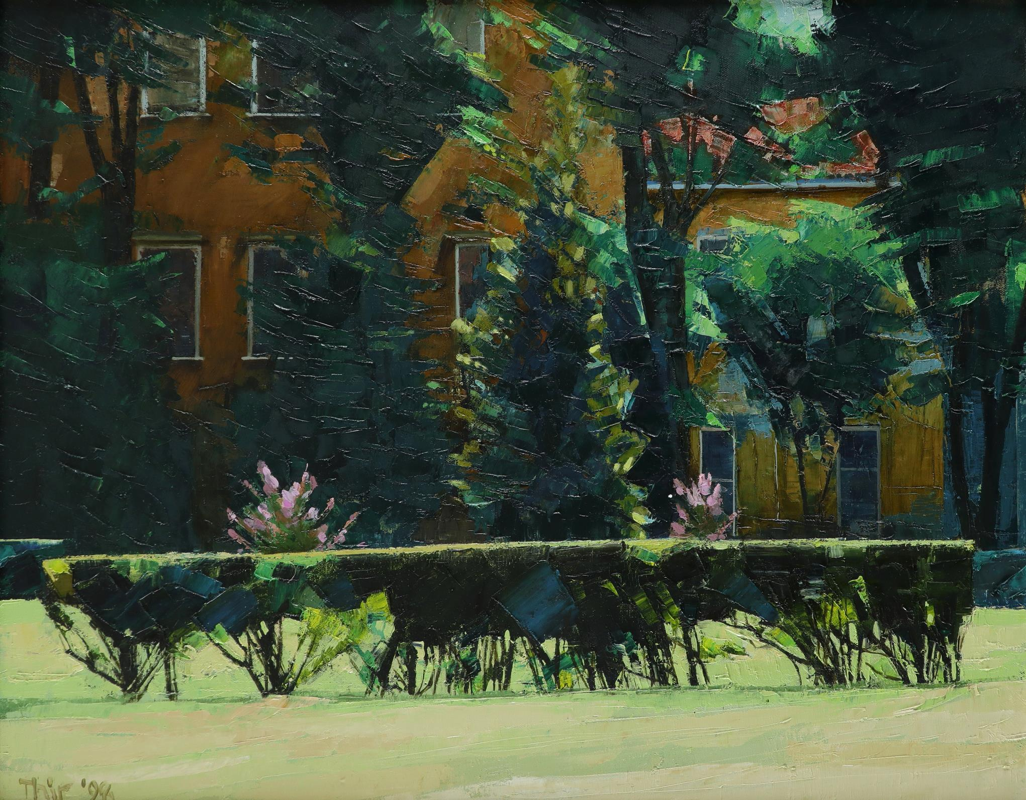 ‡John Thirlwall (b.1943) Ducal Palace Gardens, Mantua Signed and dated Thir '98 (lower left), and