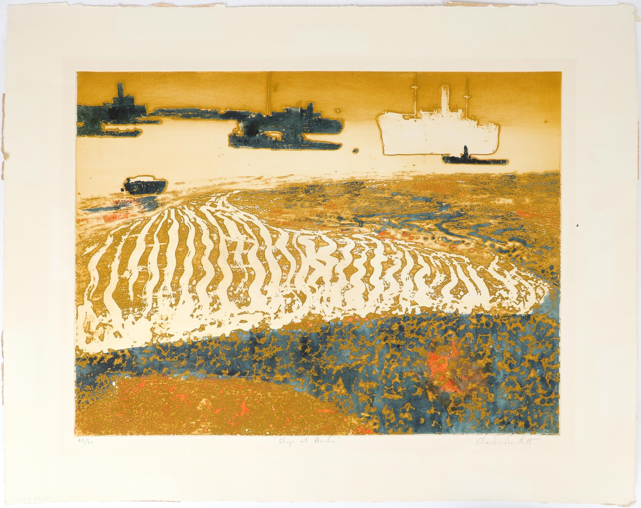 ‡Charles Bartlett (1921-2014) Ships at Anchor; Evening Anchorage Two, the former signed, numbered - Image 4 of 9