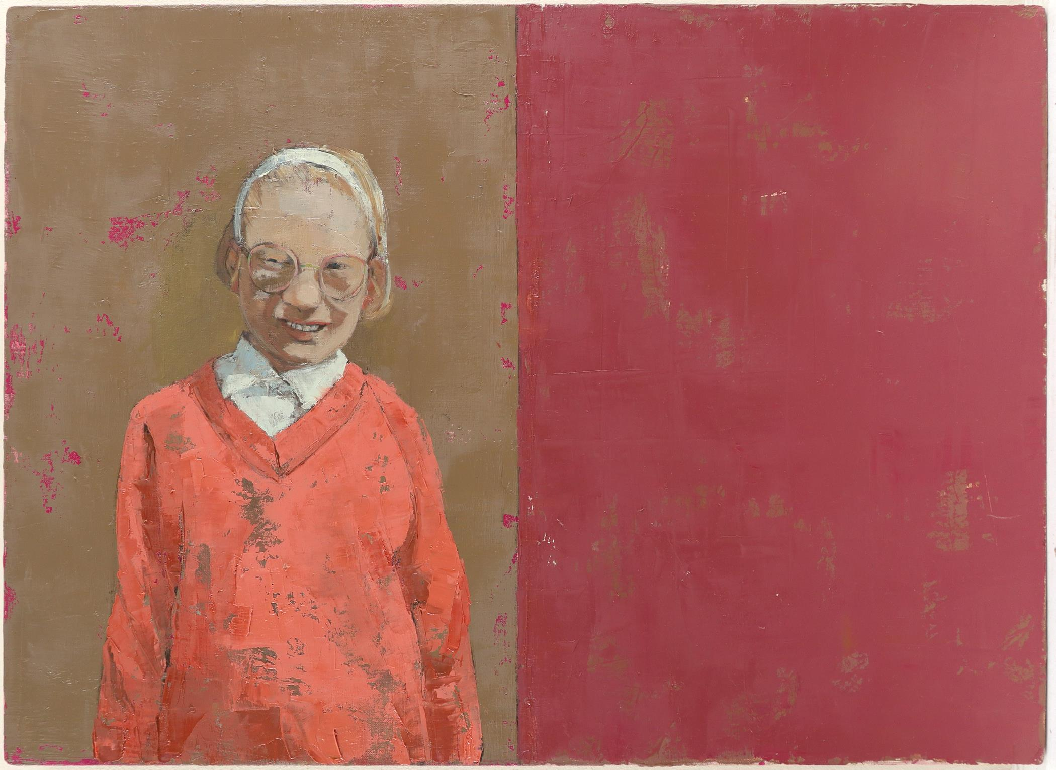 """‡Anna Gardiner (b.1966) All Buttoned Up Signed, dated and inscribed """"ALL BUTTONED UP""""/oil on linen - Image 2 of 3"""