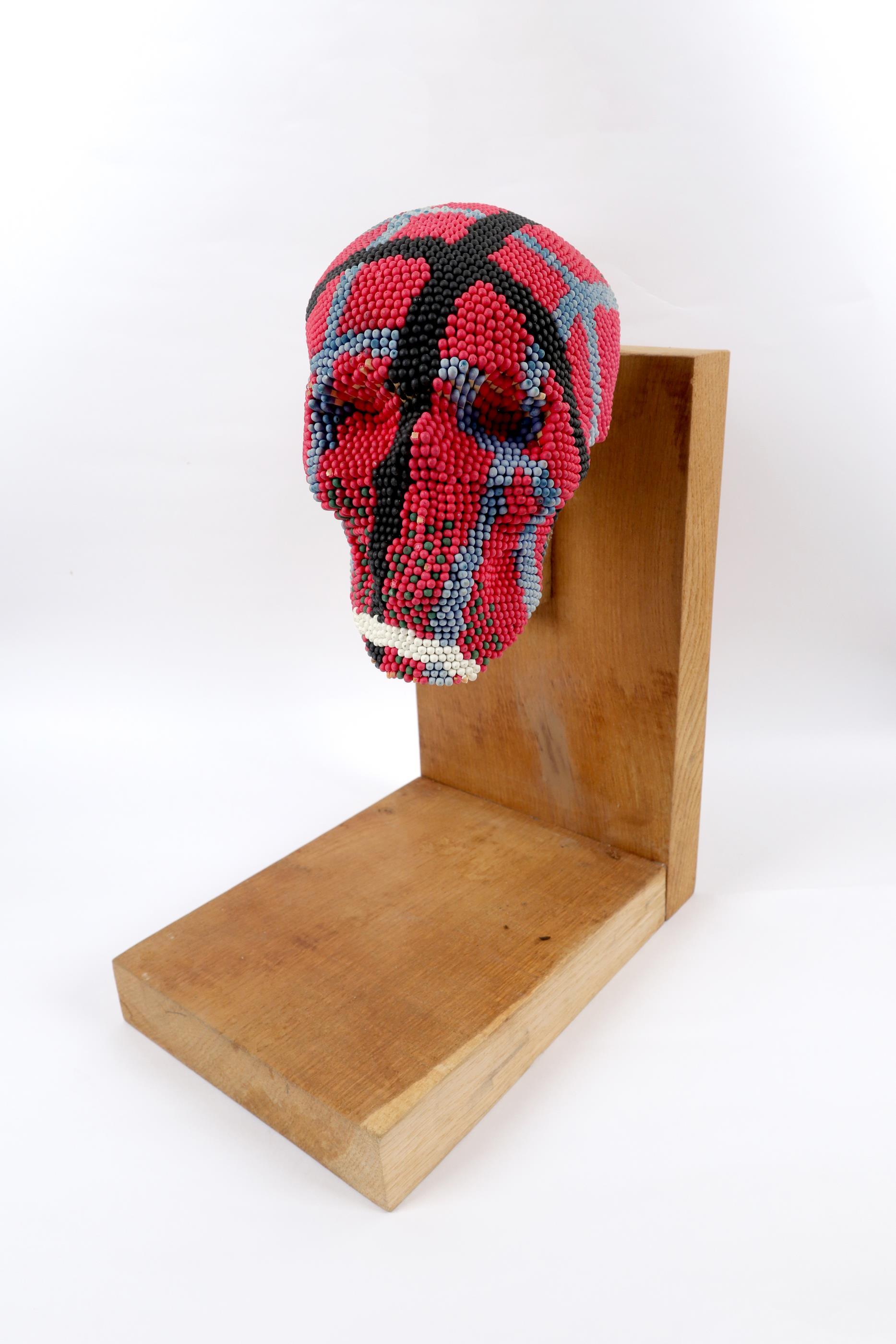 ‡David Mach RA (Scottish b.1956) Skull Signed Mach 98/No. 10/12 (to label underneath chin)