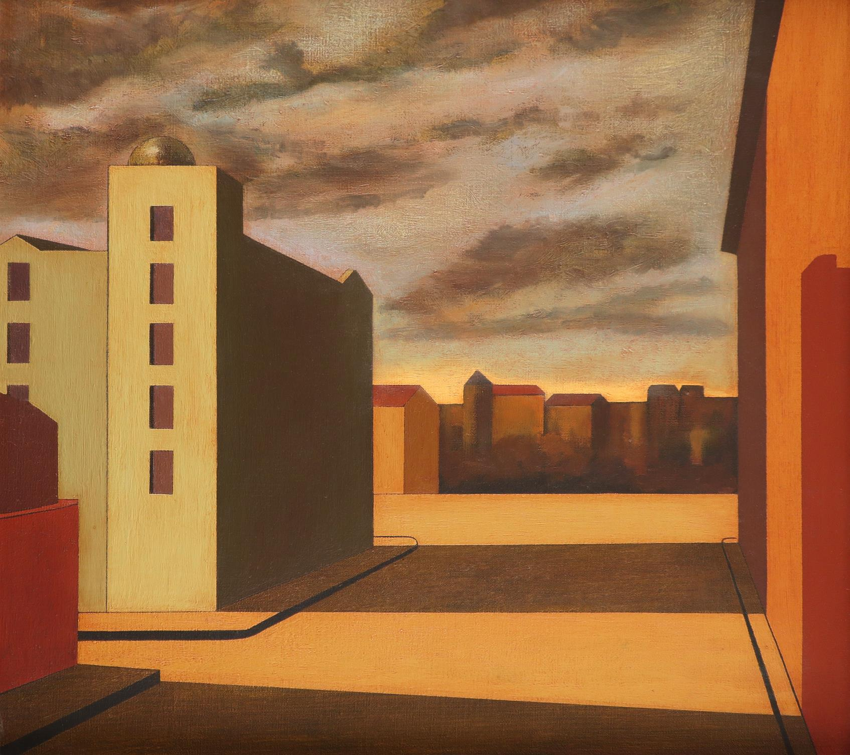 ‡Martin Kane (b.1958) Down Town Light Signed Martin/Kane (to verso) Oil on canvas, 1994 61 x 66cm