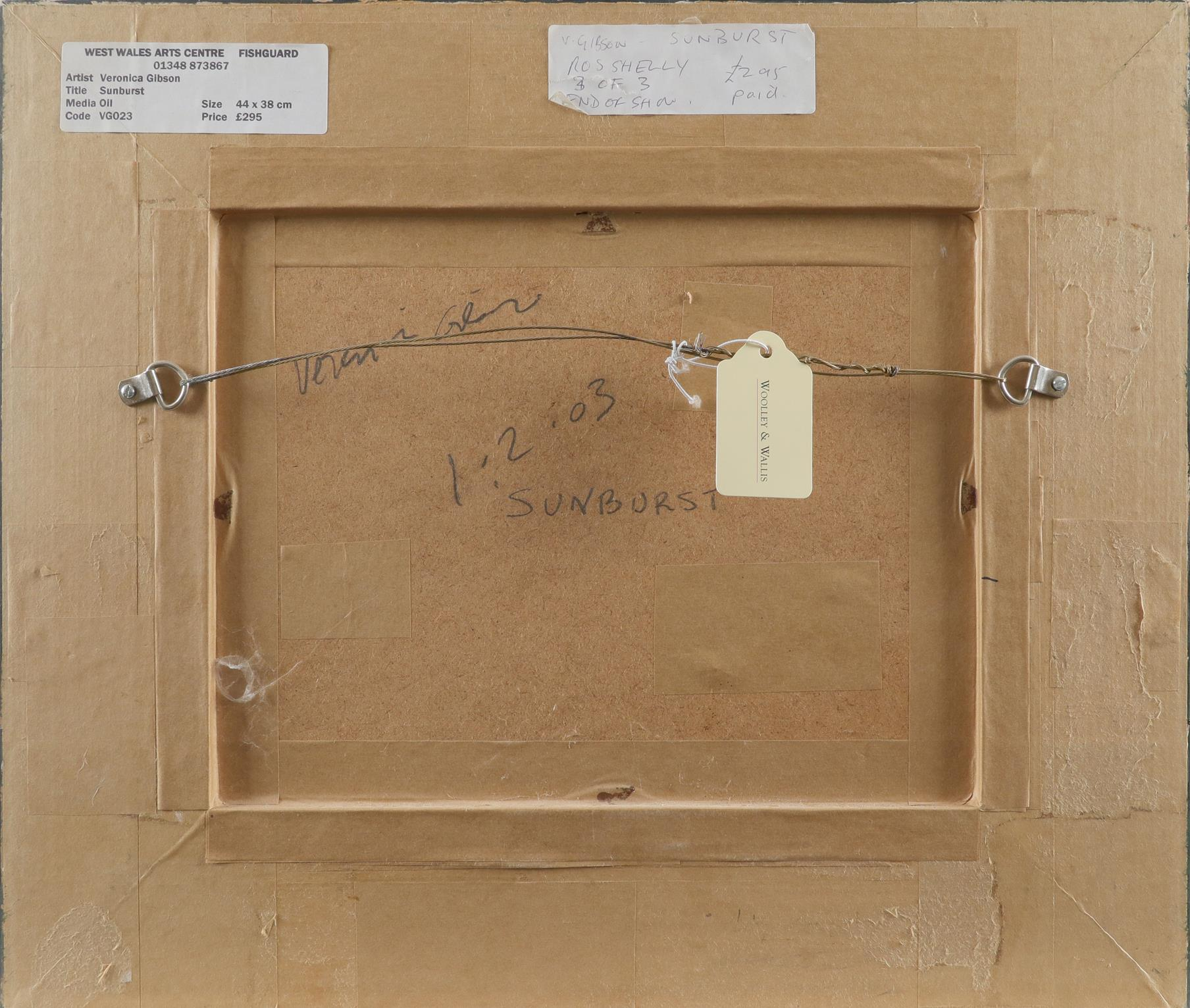 ‡Veronica Gibson (b.1954) Sunburst Signed, dated and inscribed Veronica Gibson/1.2.03/'SUNBURST' (to - Image 3 of 3