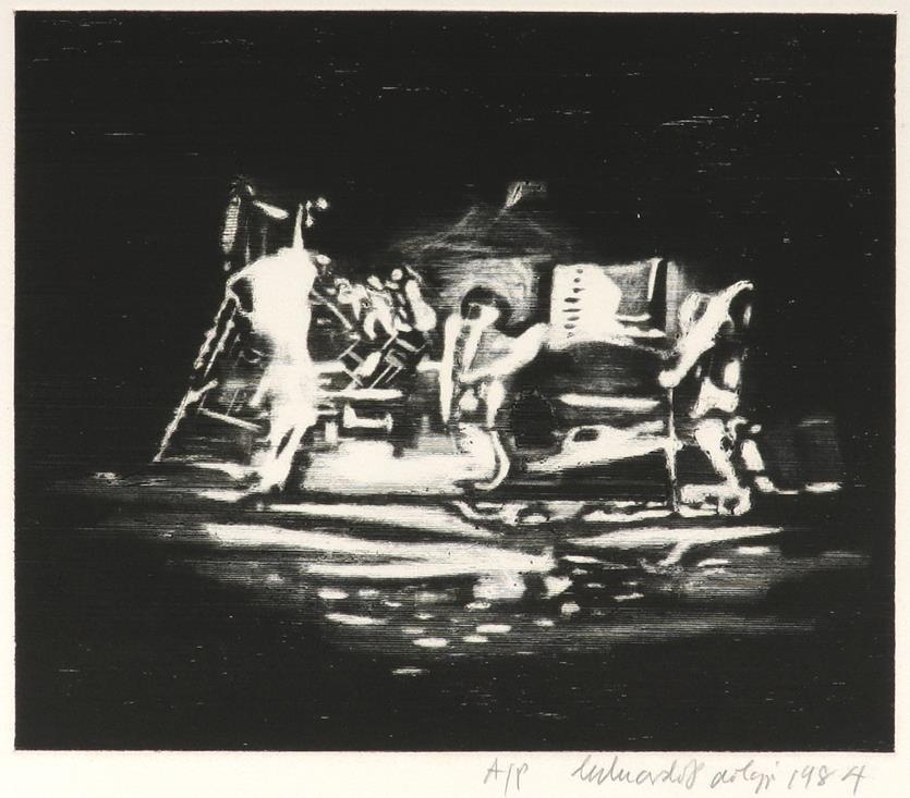 ‡Sir Eduardo Paolozzi CBE RA (Scottish 1924-2005) Study for Bruckner; On the Moon; Untitled Three, - Image 2 of 9