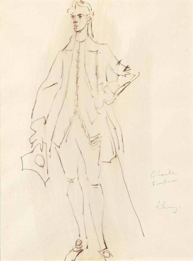 ‡Sir Cecil Beaton CBE (1904-1980) Costume designs for The School for Scandal: Lady Sneerwell; - Image 2 of 6