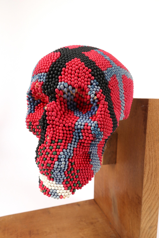 ‡David Mach RA (Scottish b.1956) Skull Signed Mach 98/No. 10/12 (to label underneath chin) - Image 5 of 5