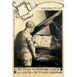 Leo Von Konig (German 1871-1944) Herman Finck at the Savage Club Signed Leo Von Konig (lower