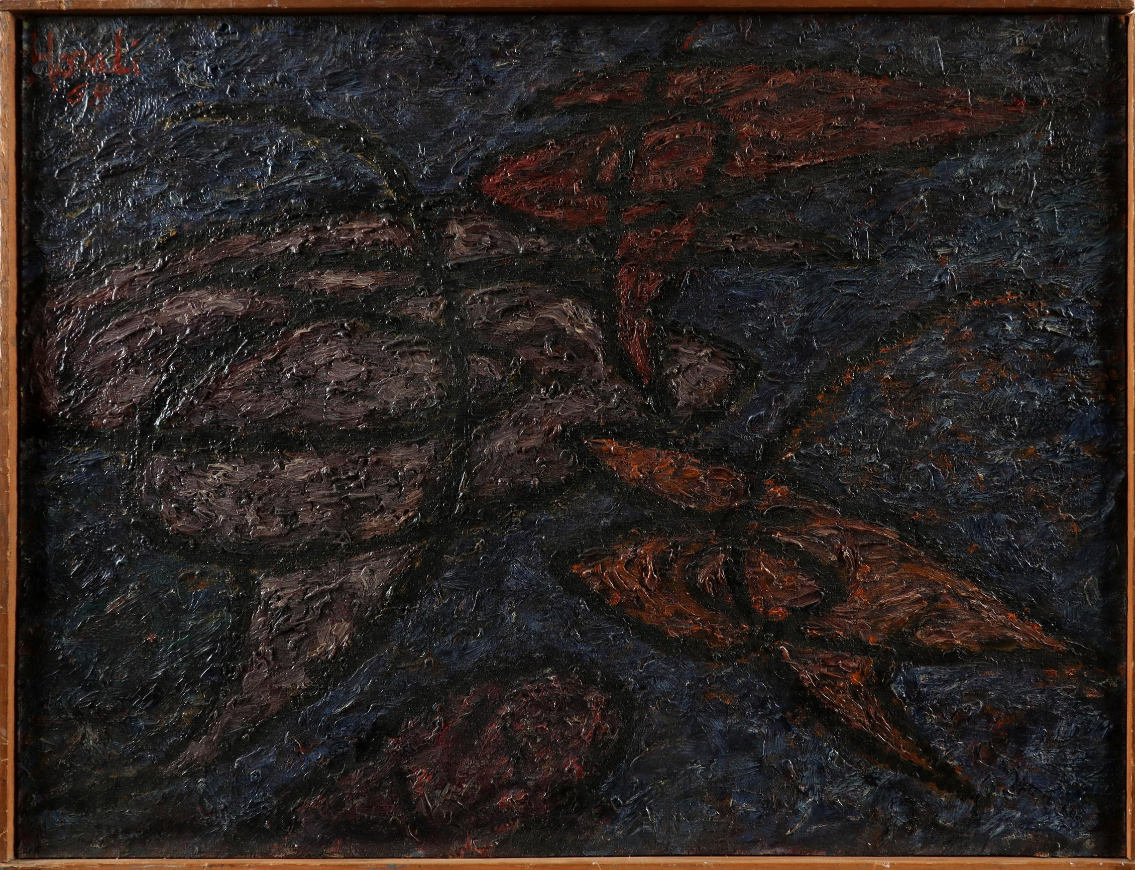 ‡Nina Hosali (1898-1987) Floating Forms; Encounter I; Two figures Three, one signed and dated Hosali - Image 4 of 9