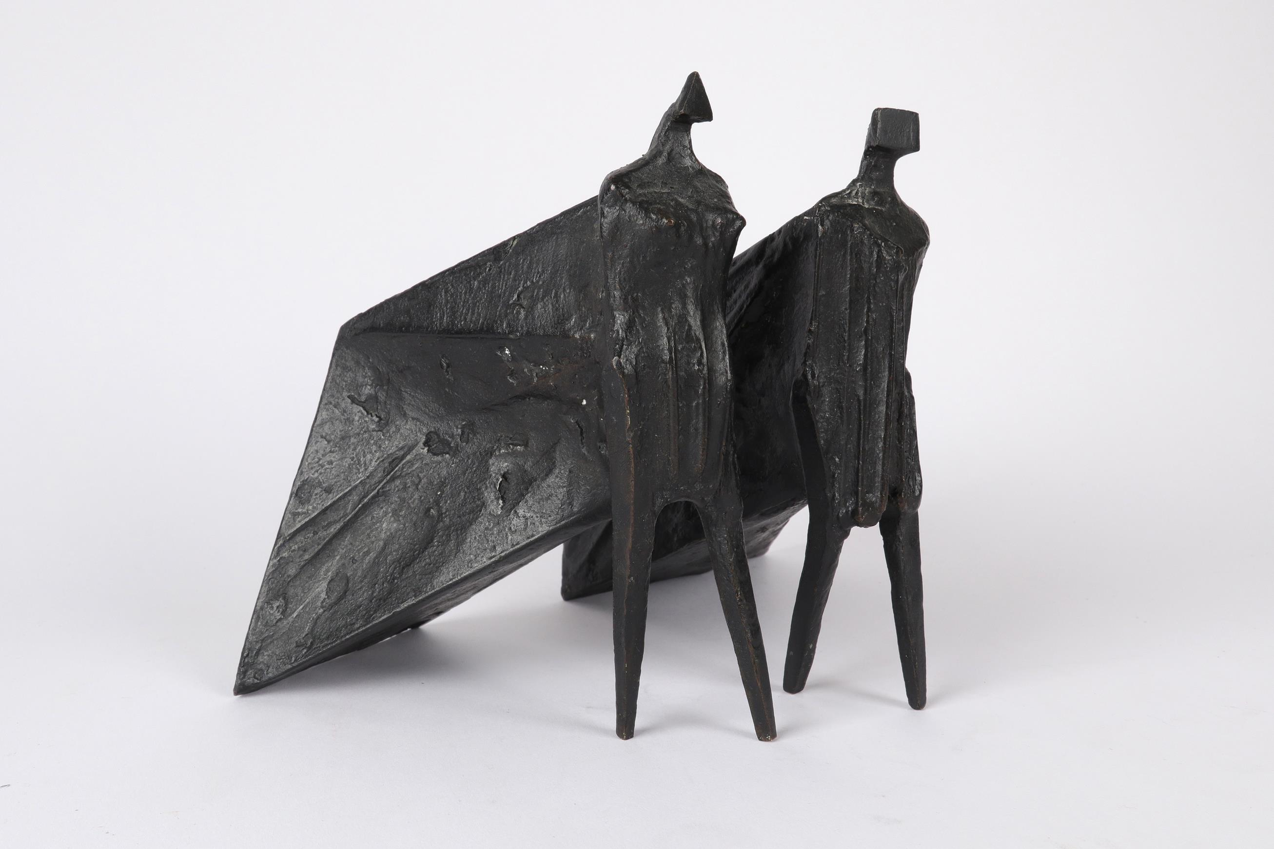 ‡Lynn Chadwick CBE, RA (1914-2003) Pair of Cloaked Figures III Each signed dated and numbered C/77/ - Image 15 of 22