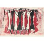 ‡Lynn Chadwick CBE, RA (1914-2003) Group of standing figures Signed, dated and numbered Chadwick