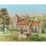 ‡Susan French (20th Century) The church of St. Mary and St. Lawrence, Stratford Tony, Wiltshire