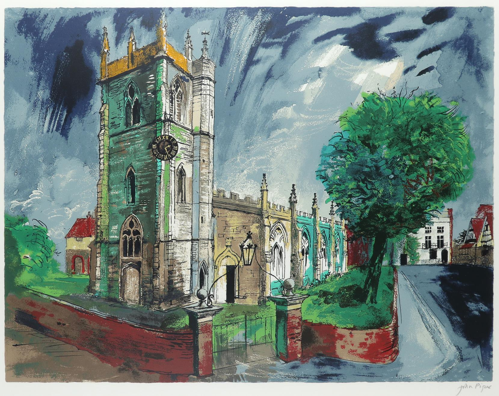 ‡John Piper CH (1903-1992) St Nicholas, Alcester (Levinson 383) Signed in pencil John Piper (in
