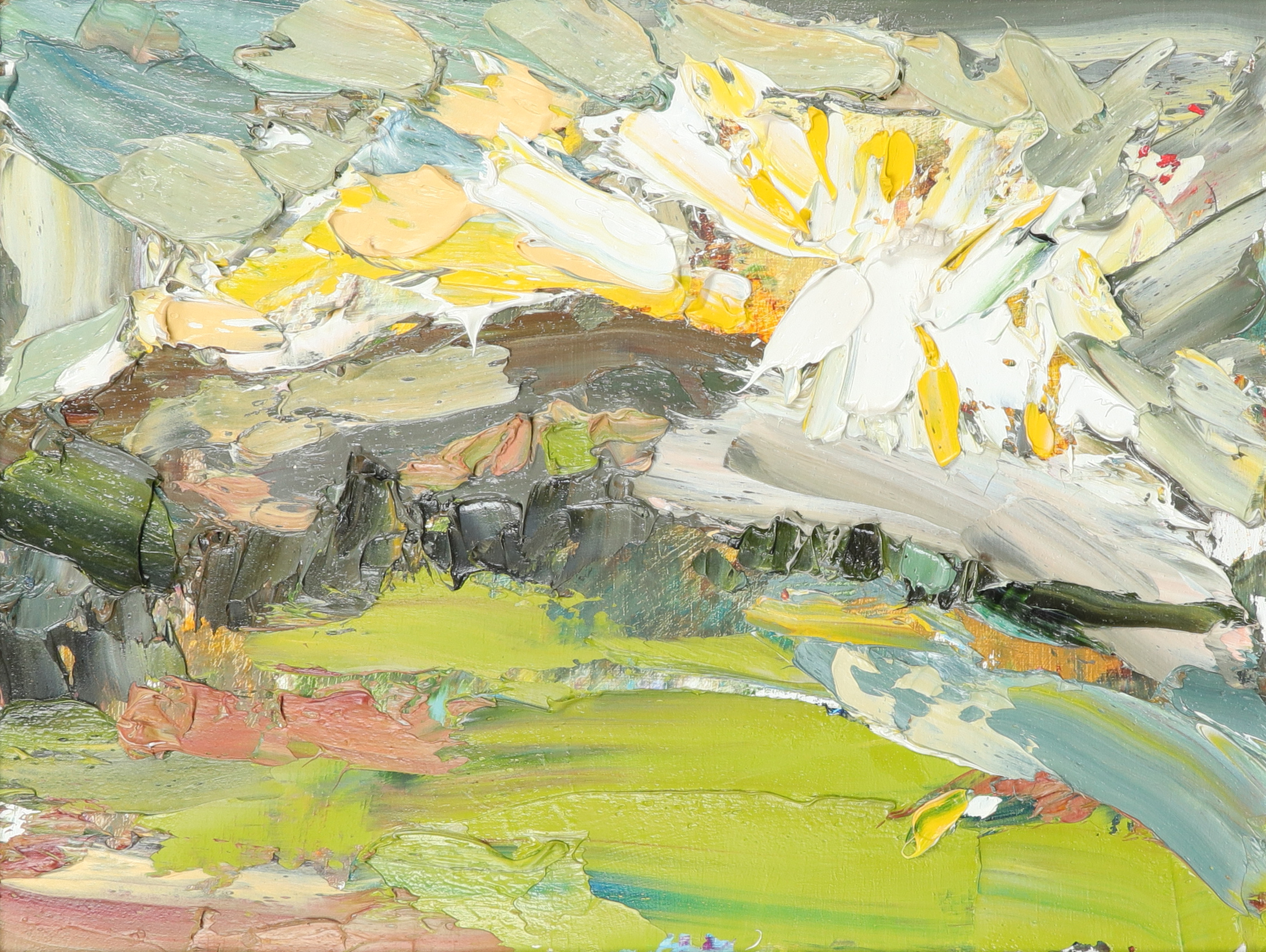 ‡Veronica Gibson (b.1954) Sunburst Signed, dated and inscribed Veronica Gibson/1.2.03/'SUNBURST' (to