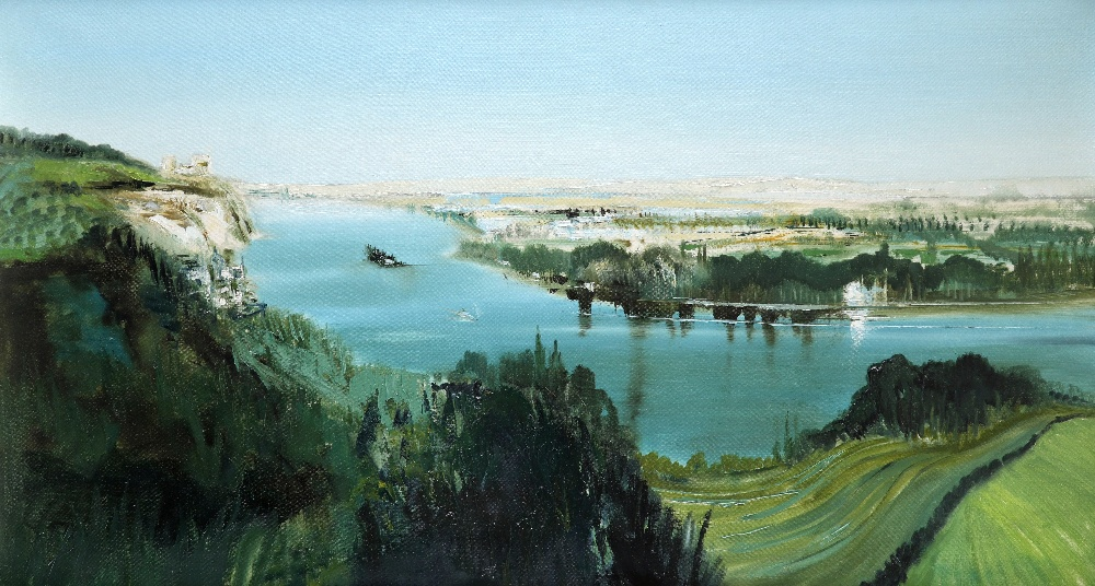 ‡Kit Barker (1916-1988) The Seine, Les Andelys Signed, dated and inscribed Barker 72/THE SEINE,