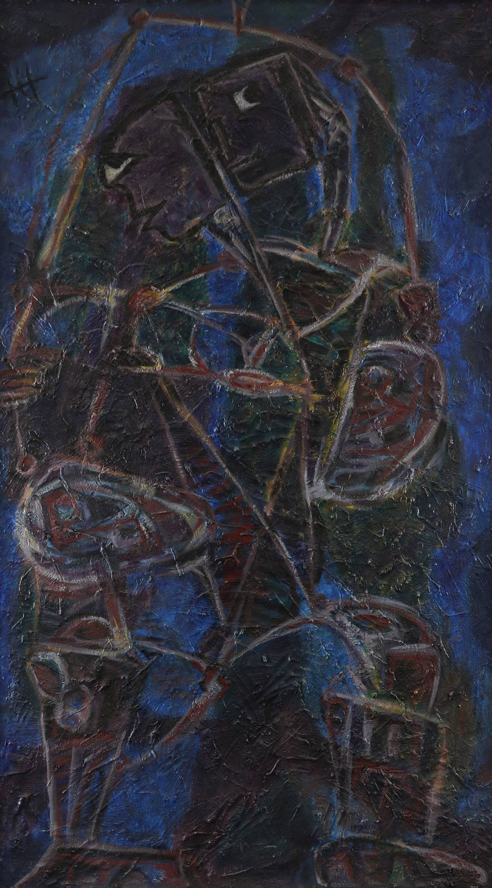‡Nina Hosali (1898-1987) Judas Signed with initals NH (upper left), and signed and dated Hosali '