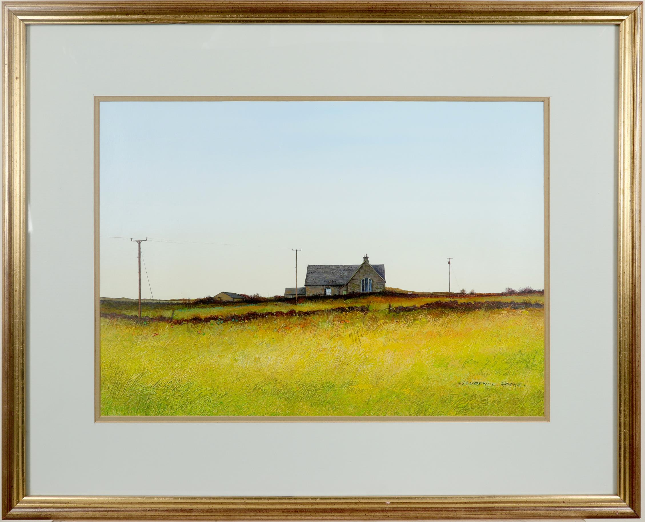 ‡Laurence Roche (Welsh b.1944) Henner School, Pembrokeshsire Signed -LAURENCE ROCHE.- (lower - Image 2 of 3