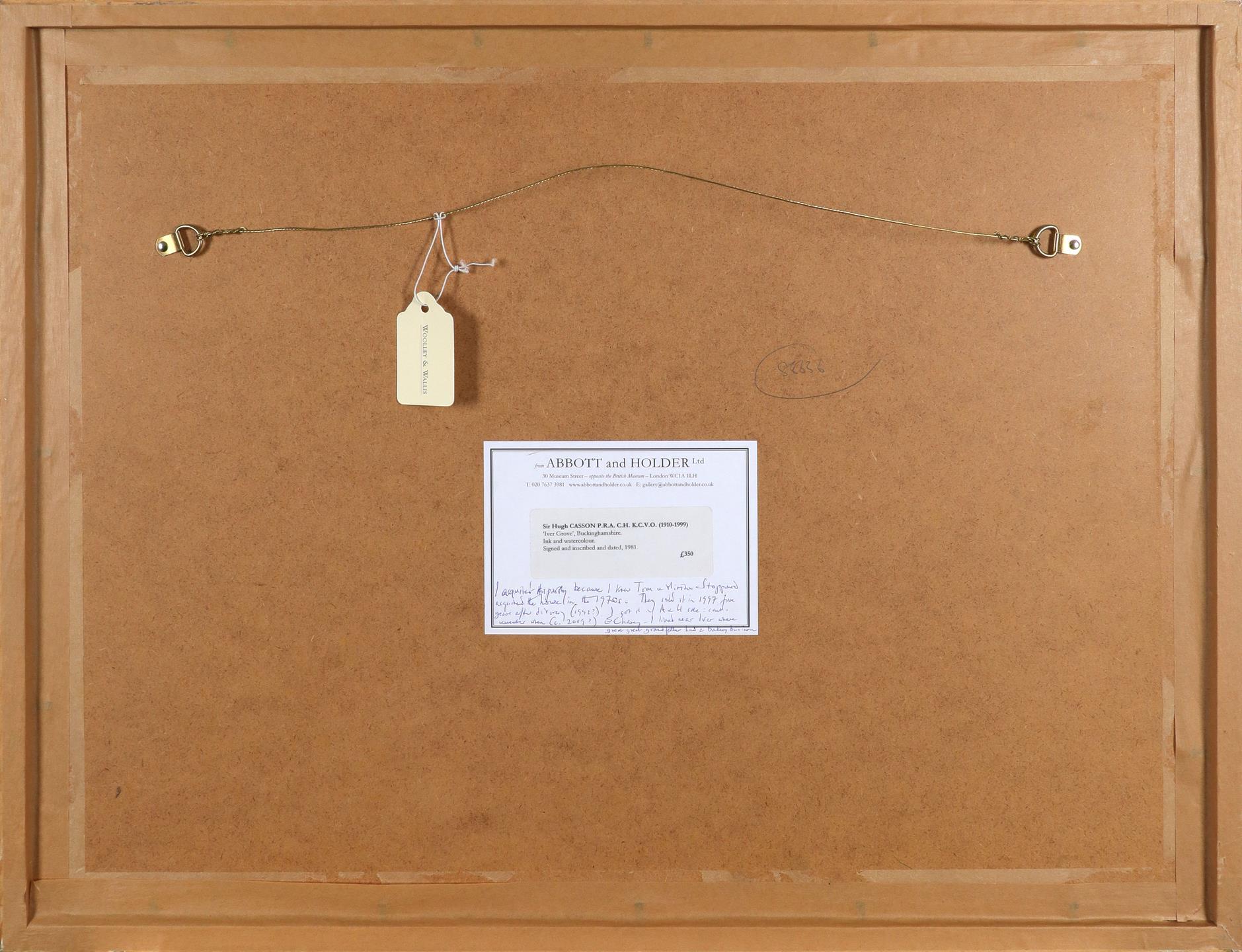 ‡Sir Hugh Casson CH, KKCVO, PRA, RDI (1910-1999) Iver Grove, Buckinghamshire Signed and dated HUGH - Image 3 of 3