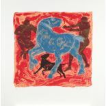 ‡Lin Jammet (1958-2017) Taming a horse Signed, dated and numbered 26/50 Lin Jammet '97 (in pencil to