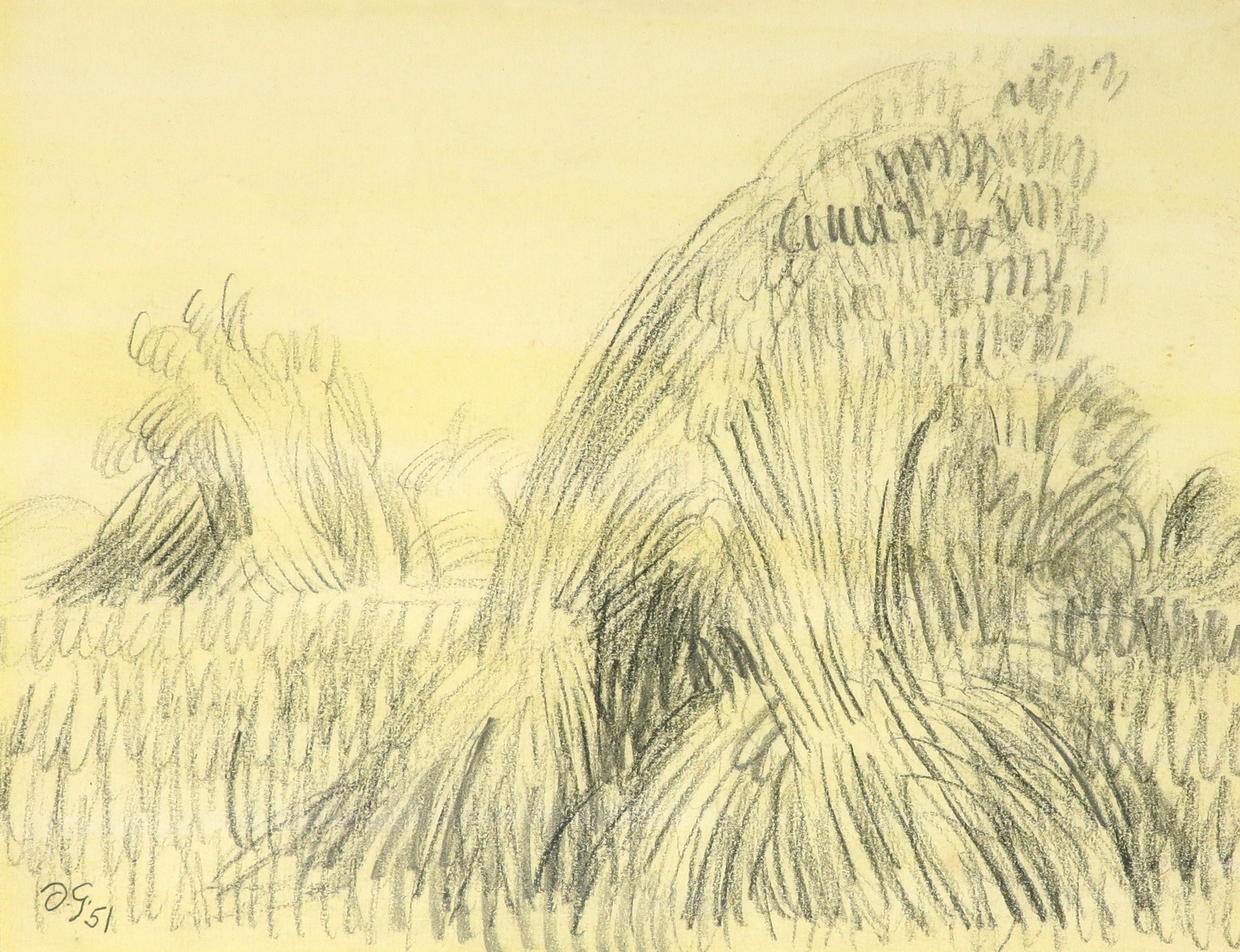 ‡Duncan Grant (1885-1978) Wheatsheaves Signed with initials and dated D.G./51 (lower left) Pencil