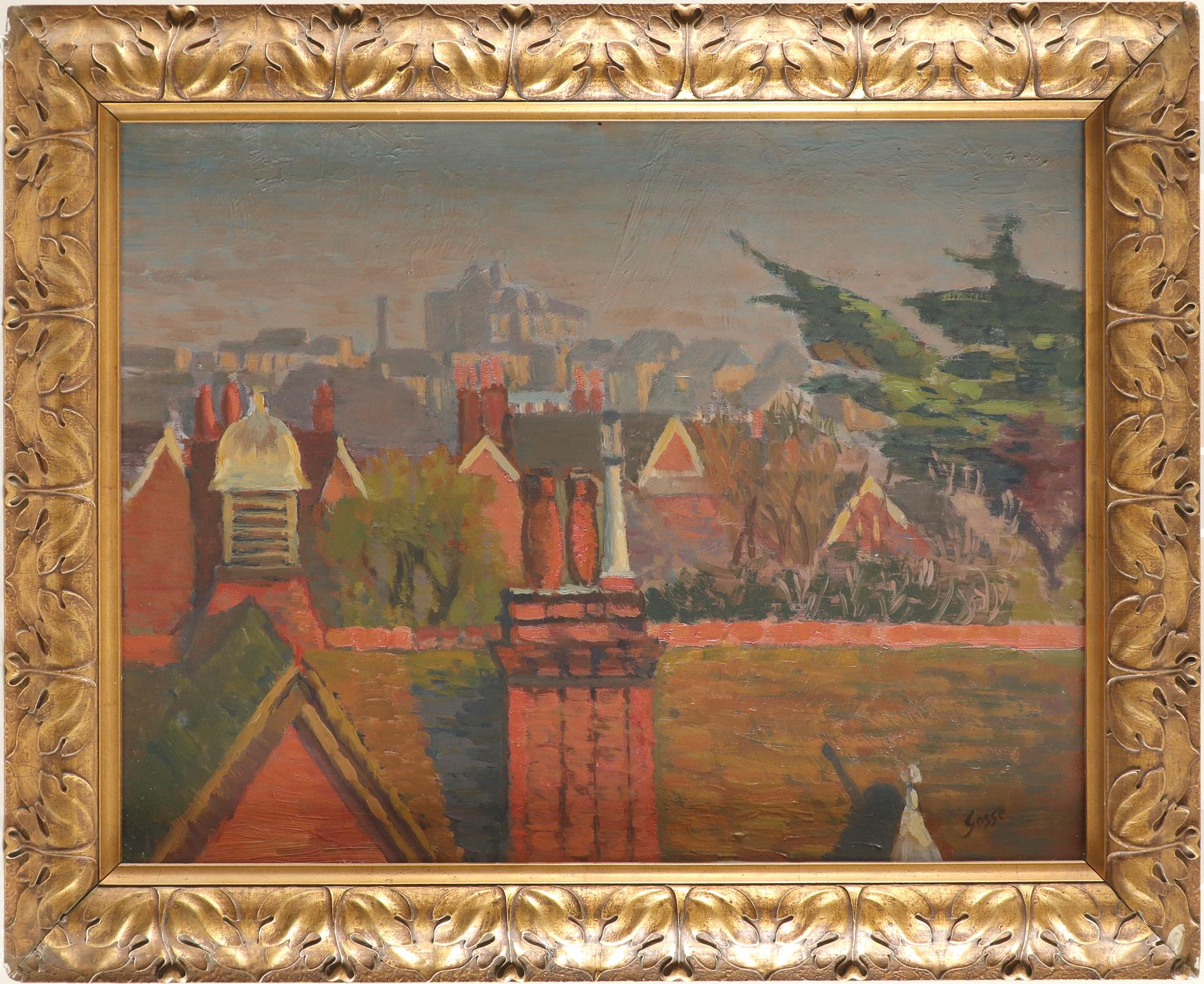 ‡Sylvia Gosse (1881-1968) Over the rooftops Signed Gosse (lower right) Oil on board 45.8 x 60.9cm - Image 2 of 3