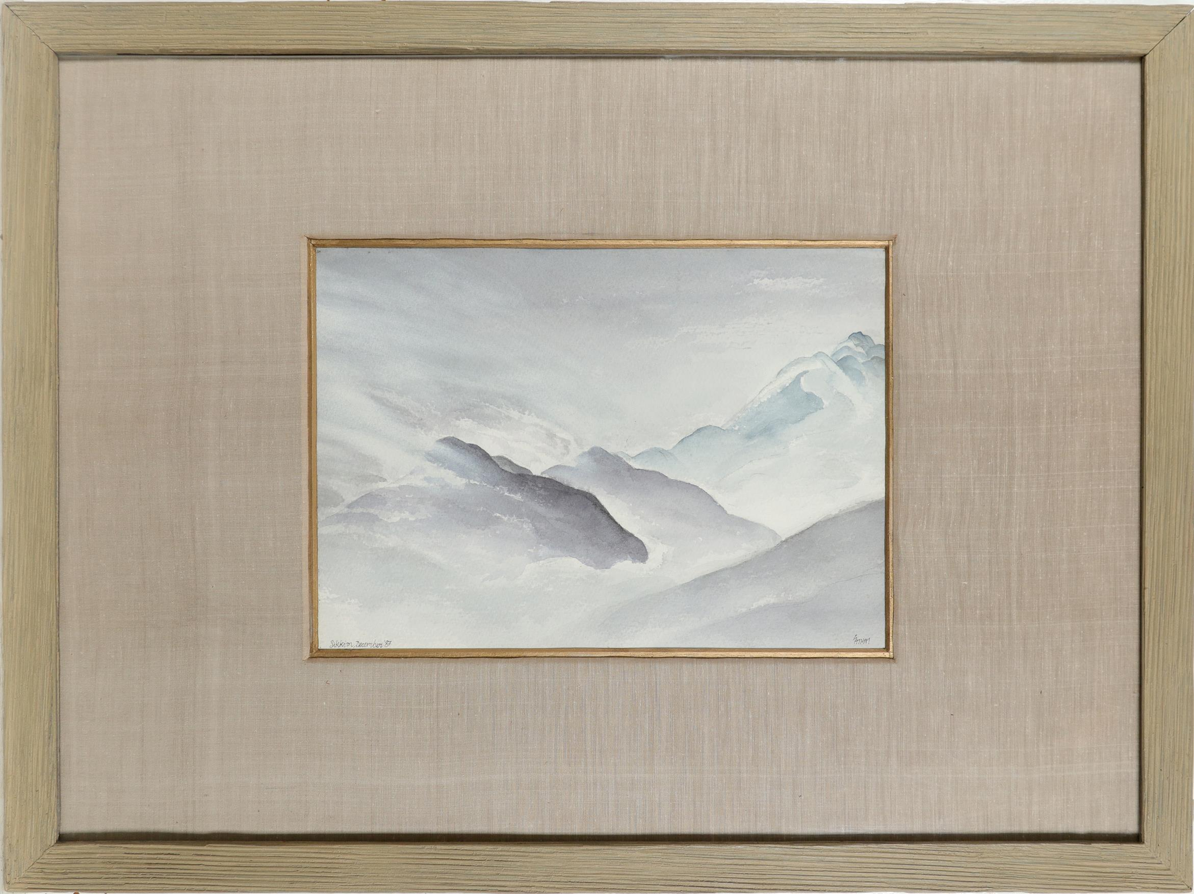 Satish Gupta (Indian b.1947) Mountain landscape in Sikkim Signed Satish (lower right) and - Image 2 of 3