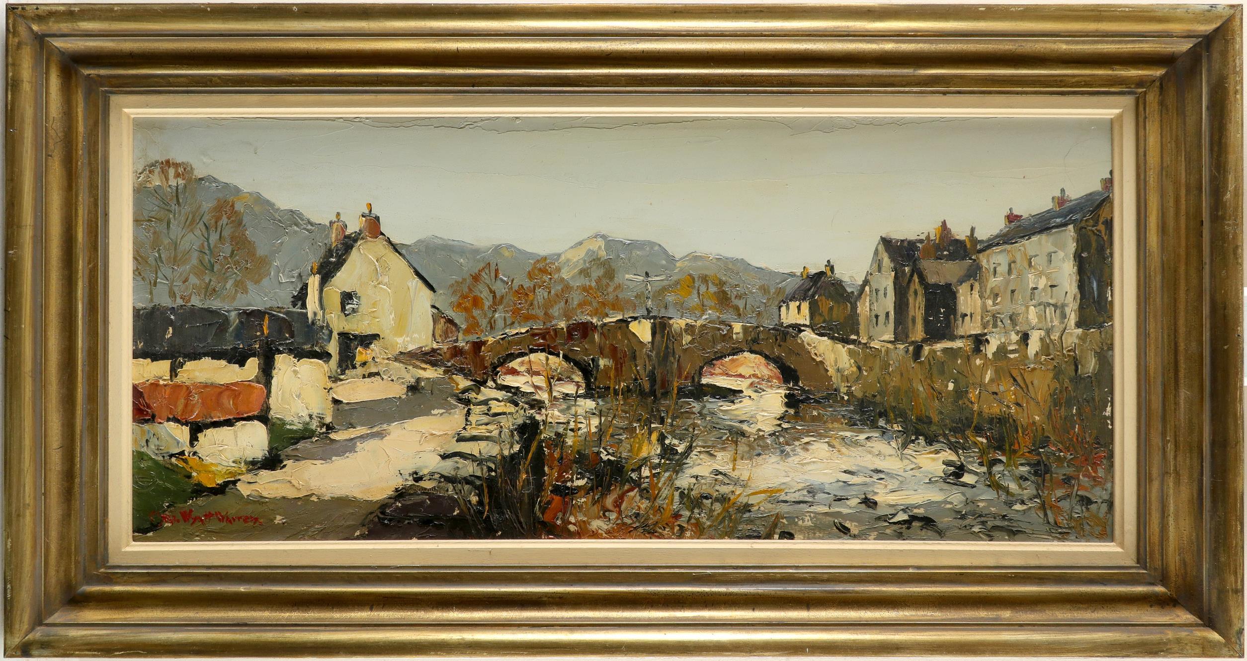 ‡Charles Wyatt Warren (Welsh 1908-1993) Beddgelert in Snowdonia, Wales Signed Chas. Wyatt Warren ( - Image 2 of 3