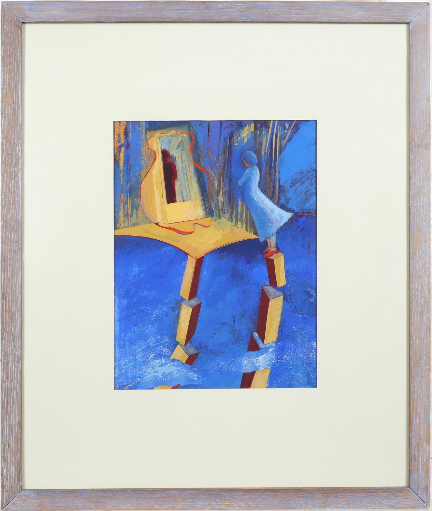 ‡Christine Kinsey (Welsh Contemporary) Cartre Signed with initials CK (lower left) Gouache 29.5 x - Image 2 of 3