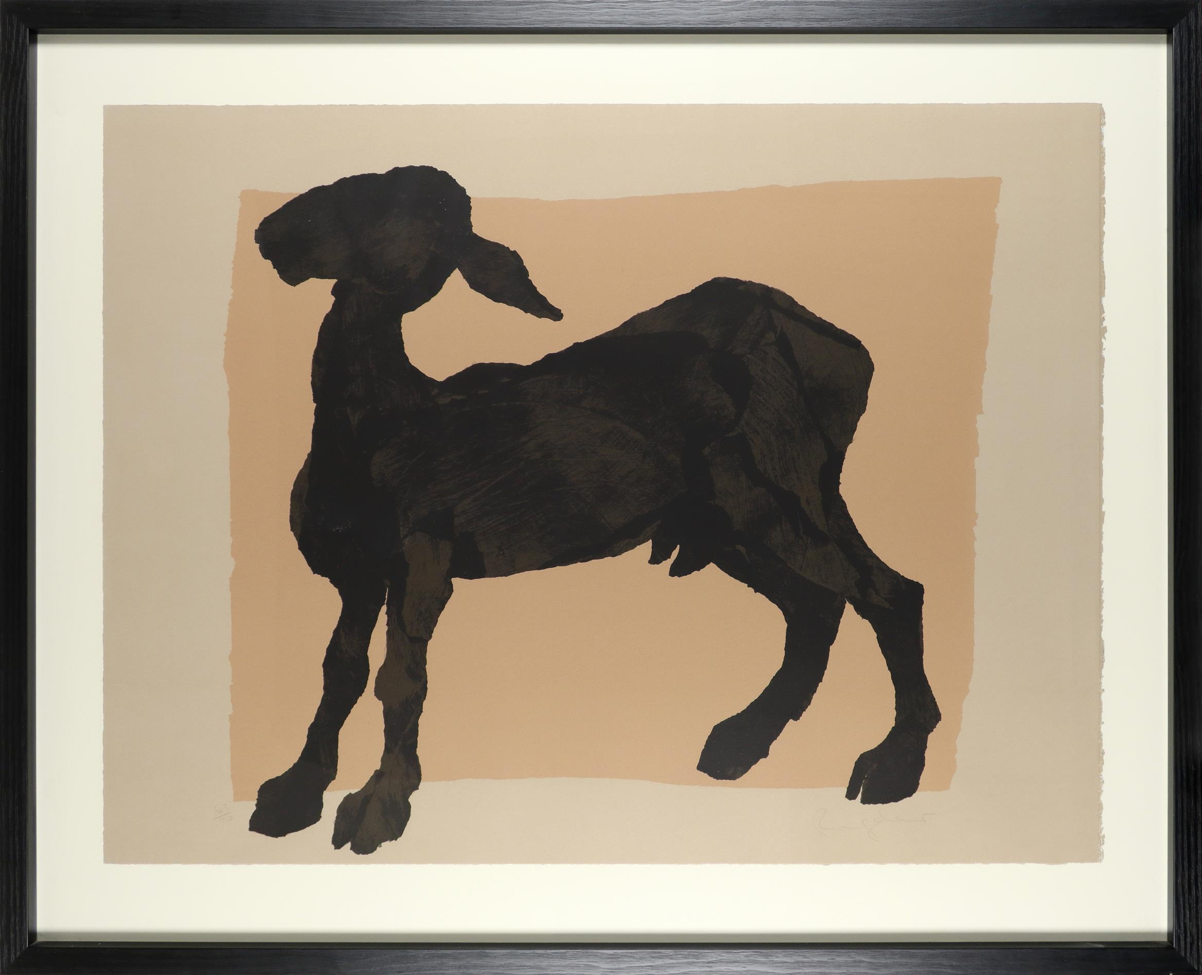 ‡Sophie Ryder (b.1963) Black goat Signed and numbered 63/70 Ryder (in pencil) Screenprint 79 x 103. - Image 2 of 3