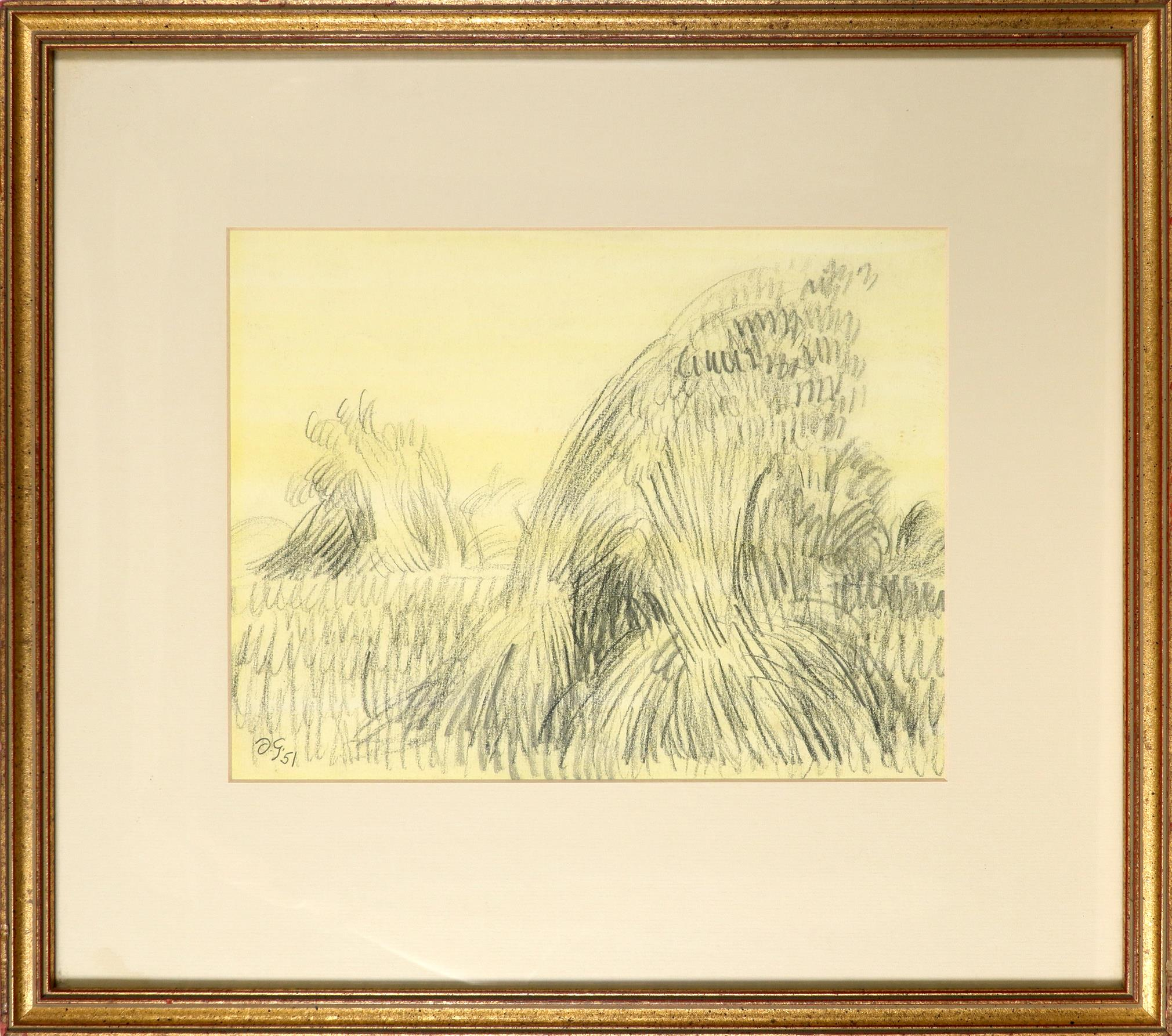 ‡Duncan Grant (1885-1978) Wheatsheaves Signed with initials and dated D.G./51 (lower left) Pencil - Image 2 of 3