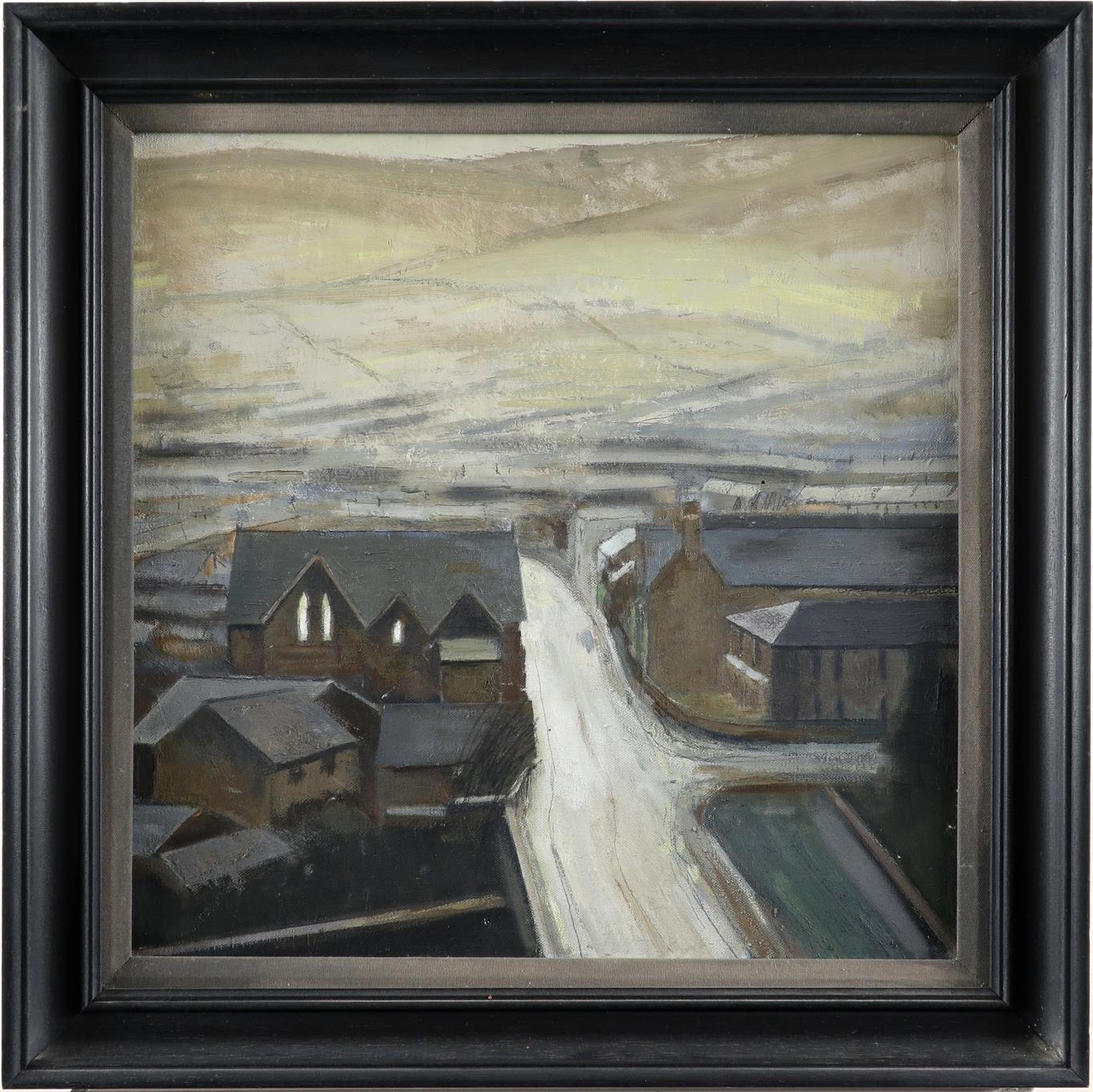 ‡Charles Burton (Welsh b.1929) Rhondda Fawr Oil on canvas 48 x 48cm Provenance: Martin Tinney - Image 2 of 3