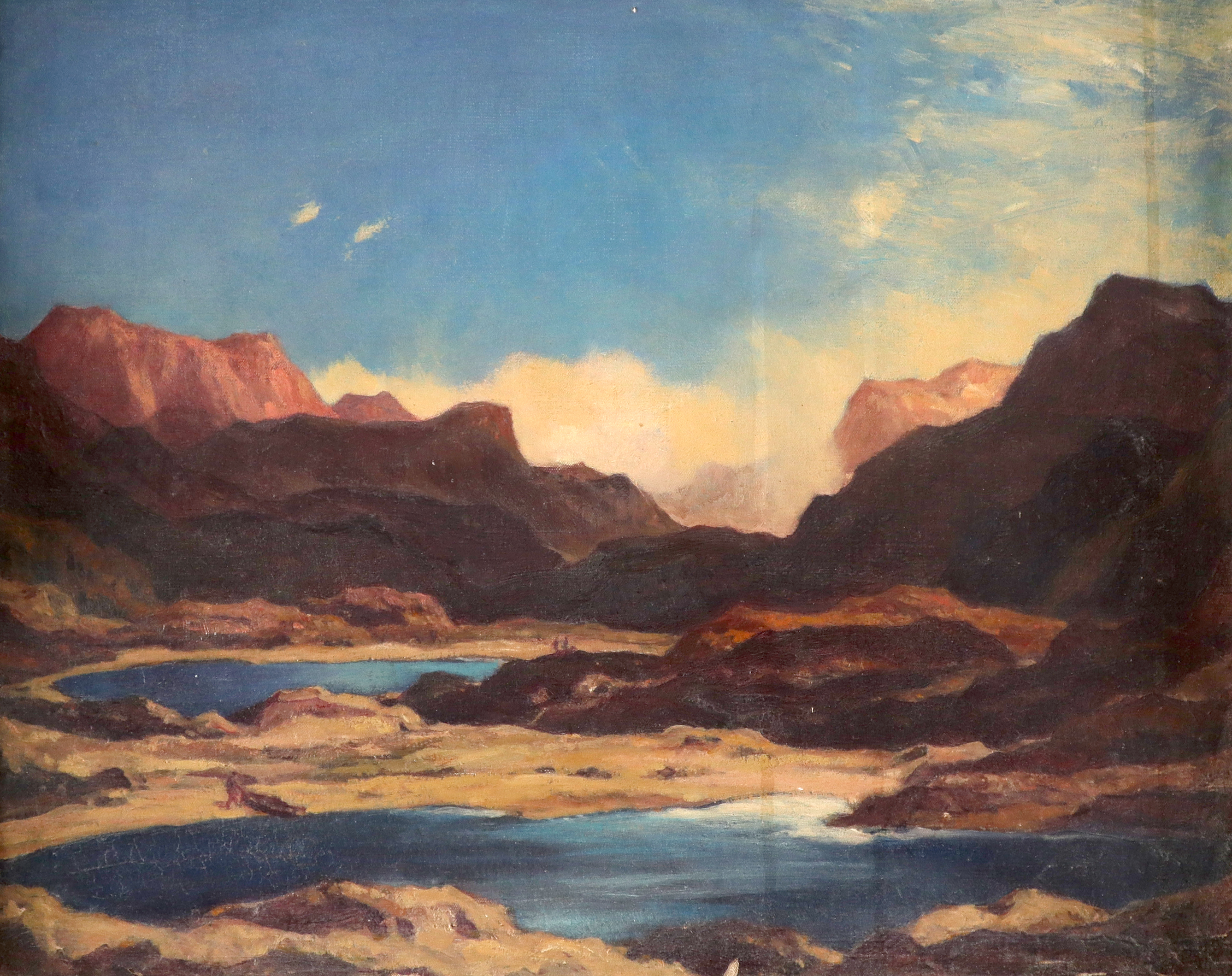 Sir David Young Cameron RA, RSA, RE (Scottish 1865-1945) Cliffs and Crags of Ross Signed and